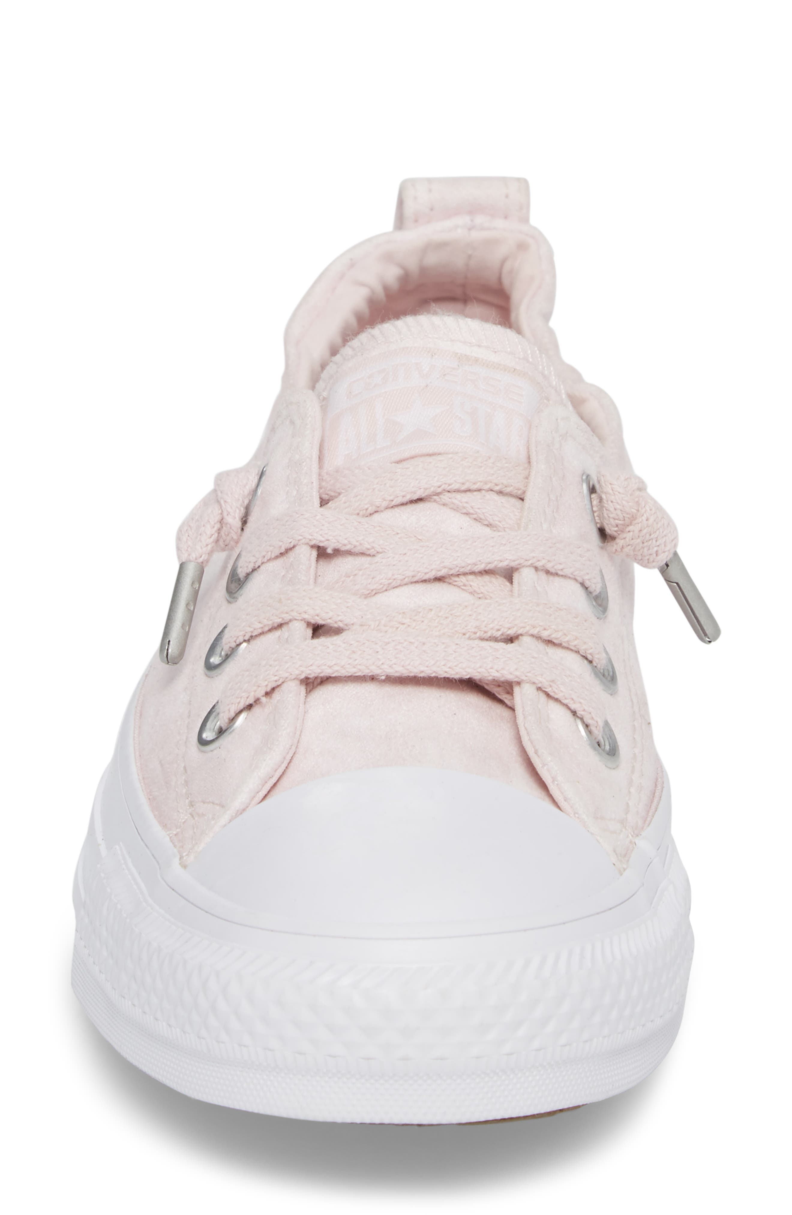 Chuck Taylor<sup>®</sup> All Star<sup>®</sup> Shoreline Peached Twill Sneaker,                             Alternate thumbnail 4, color,                             Barely Rose