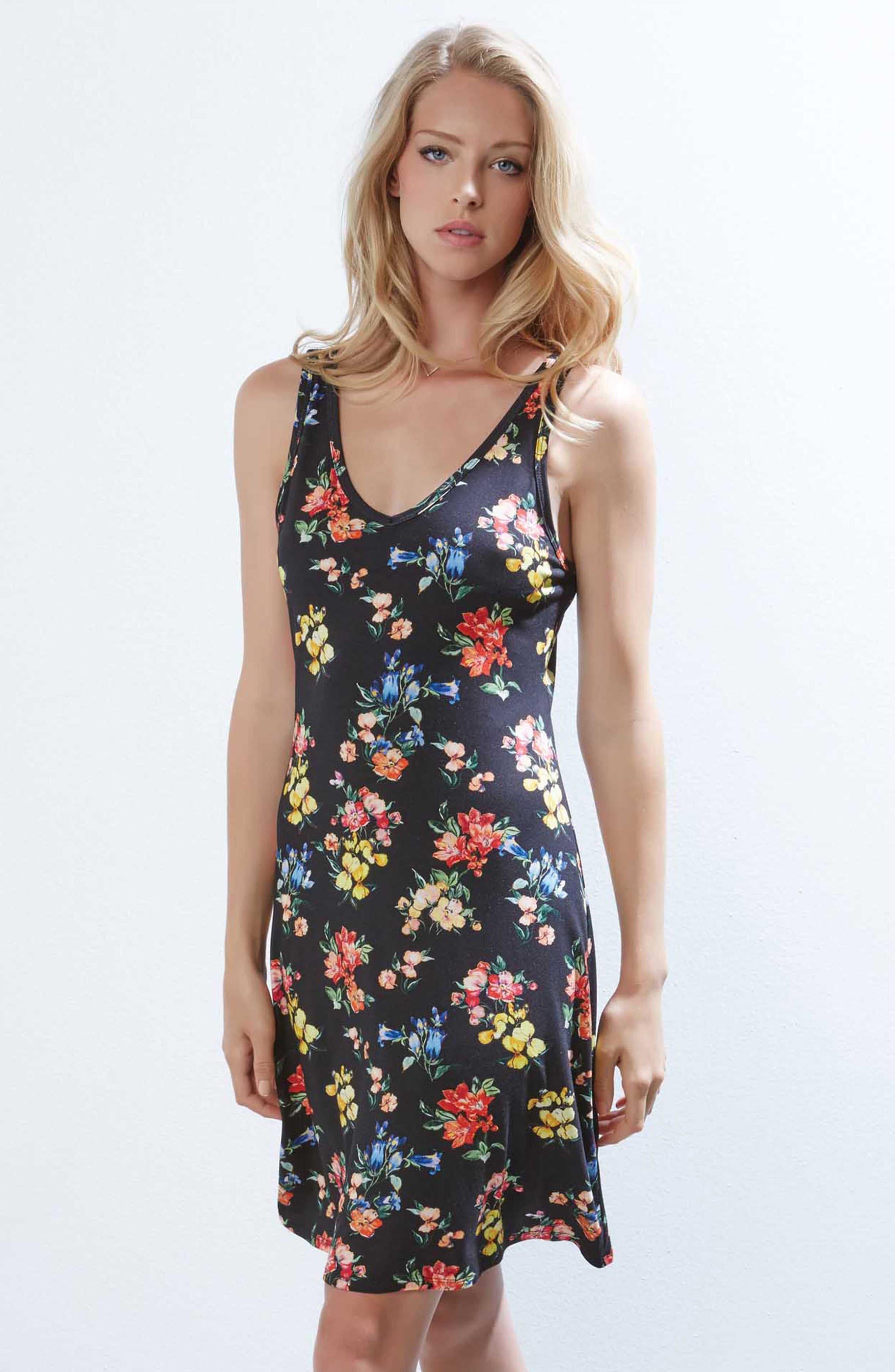 Brigitte V-Neck Dress,                             Alternate thumbnail 2, color,                             Floral