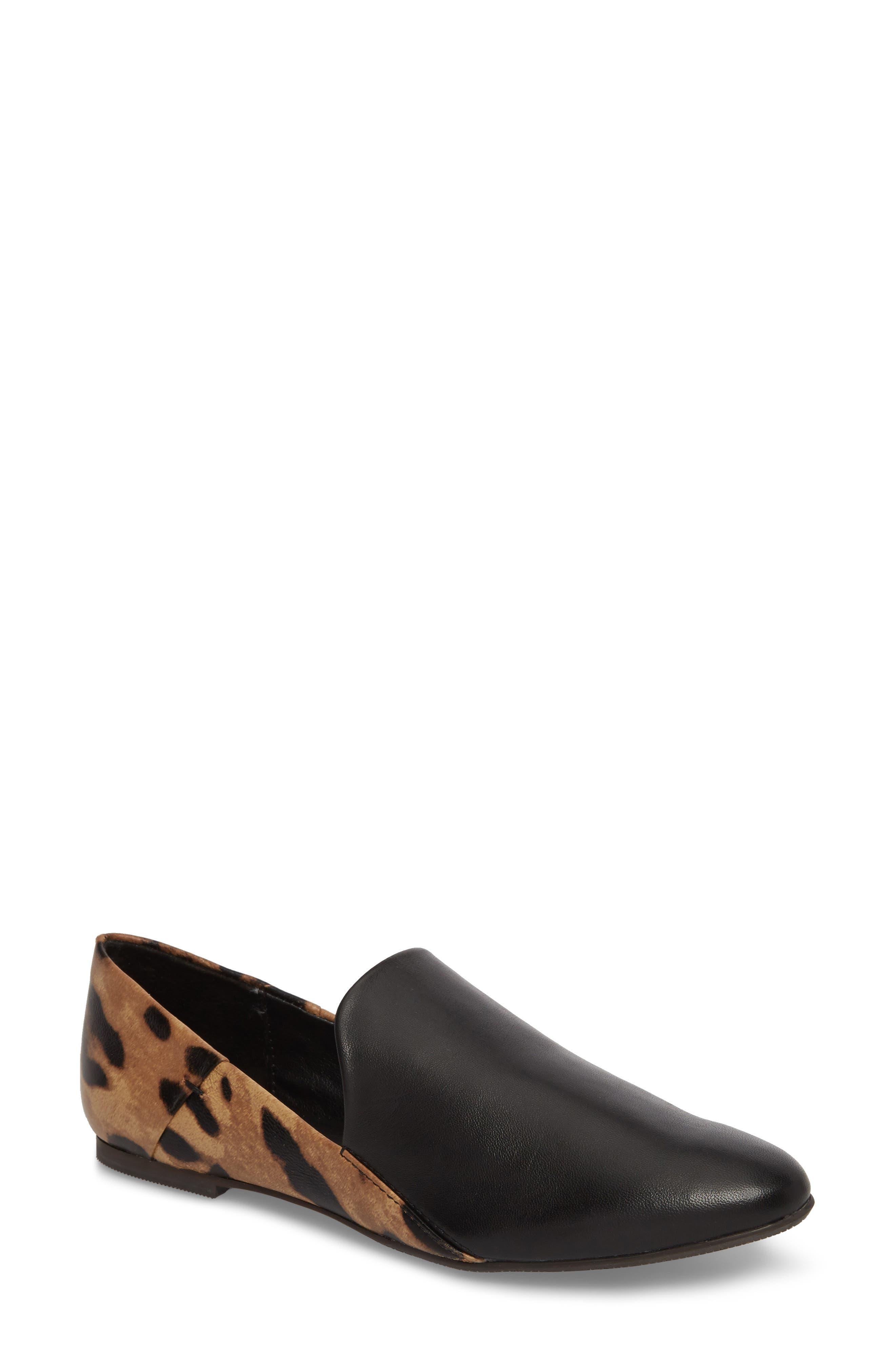 Gaga Flat,                             Main thumbnail 1, color,                             Black Leopard