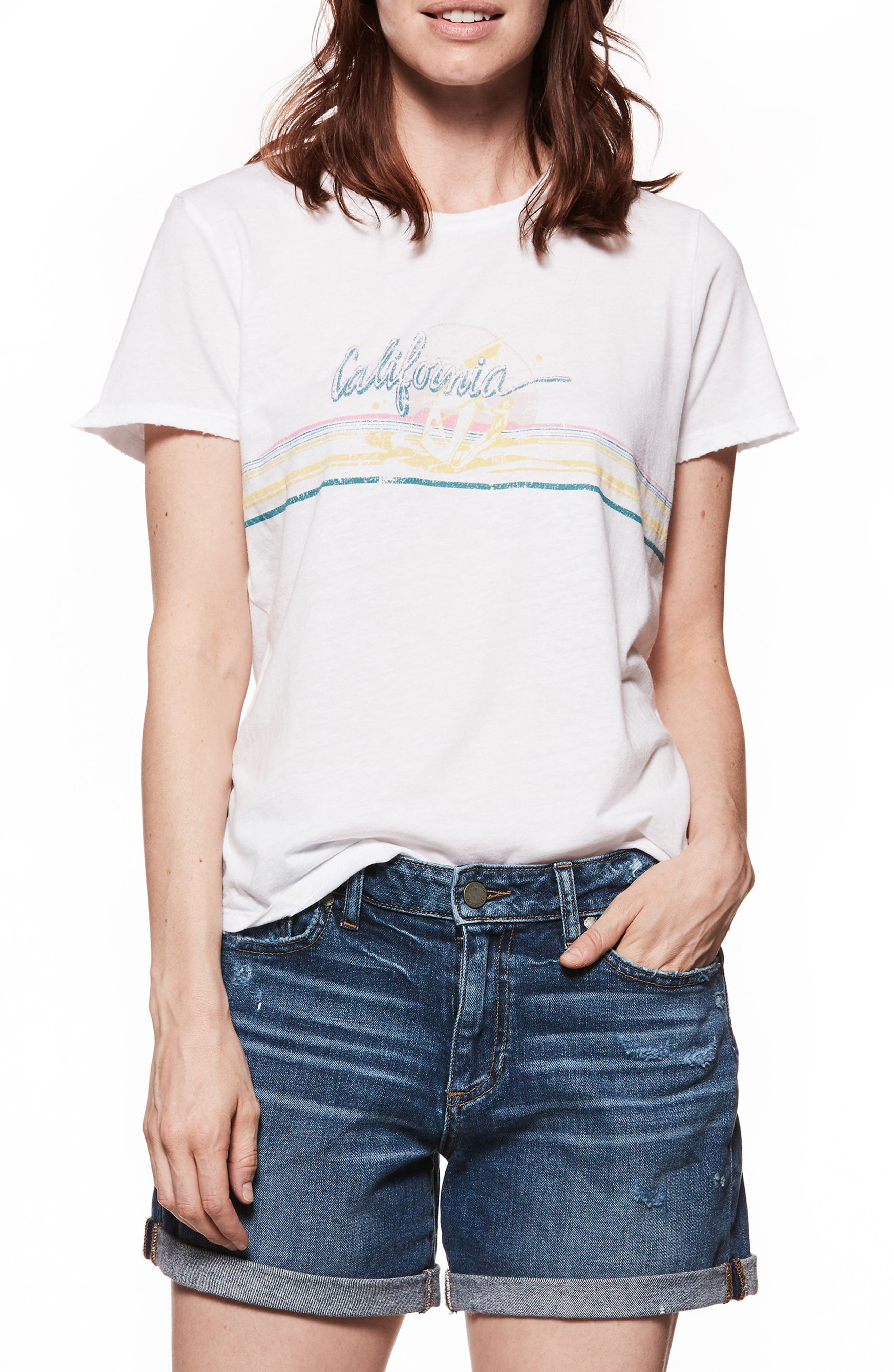 Bexley Windsurfer Tee,                         Main,                         color, Misted Yellow / 80S Pink