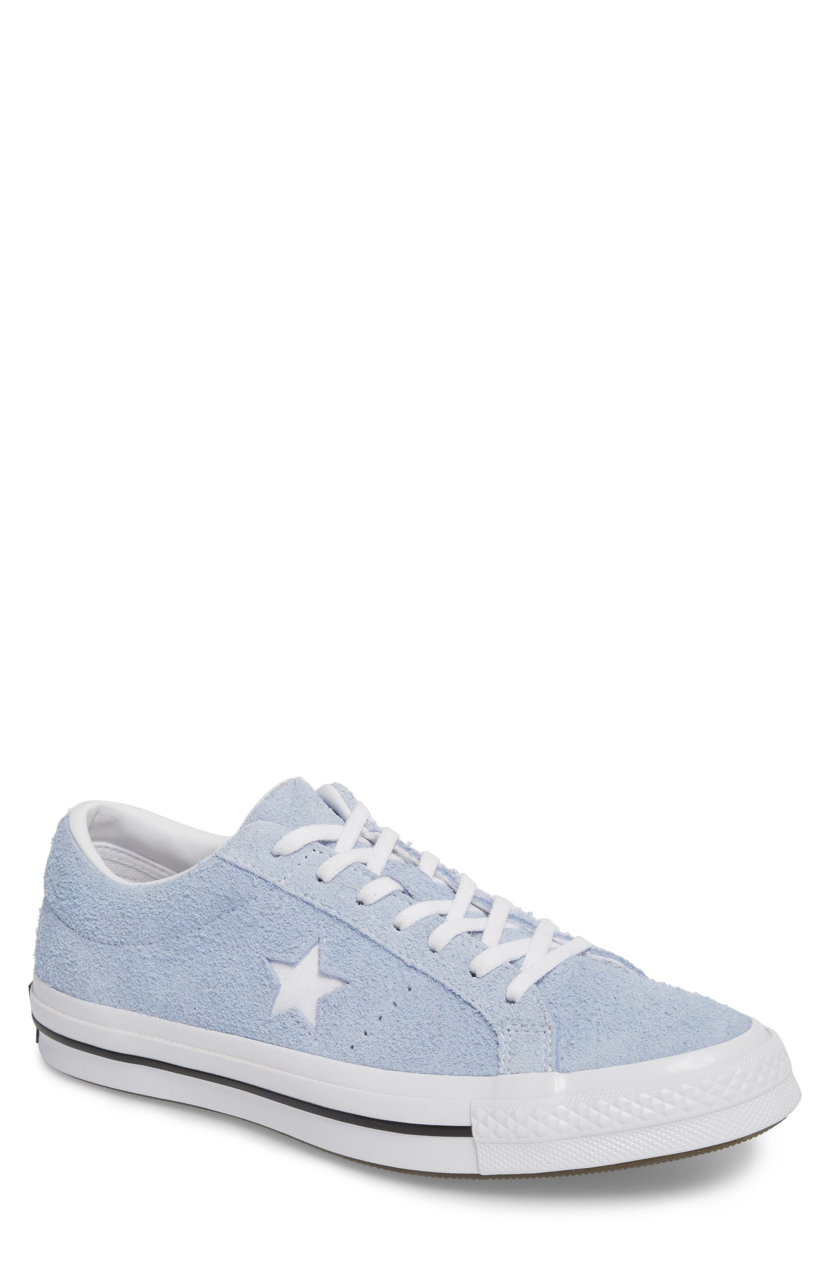 One Star Sneaker,                             Main thumbnail 1, color,                             Blue Chill Suede