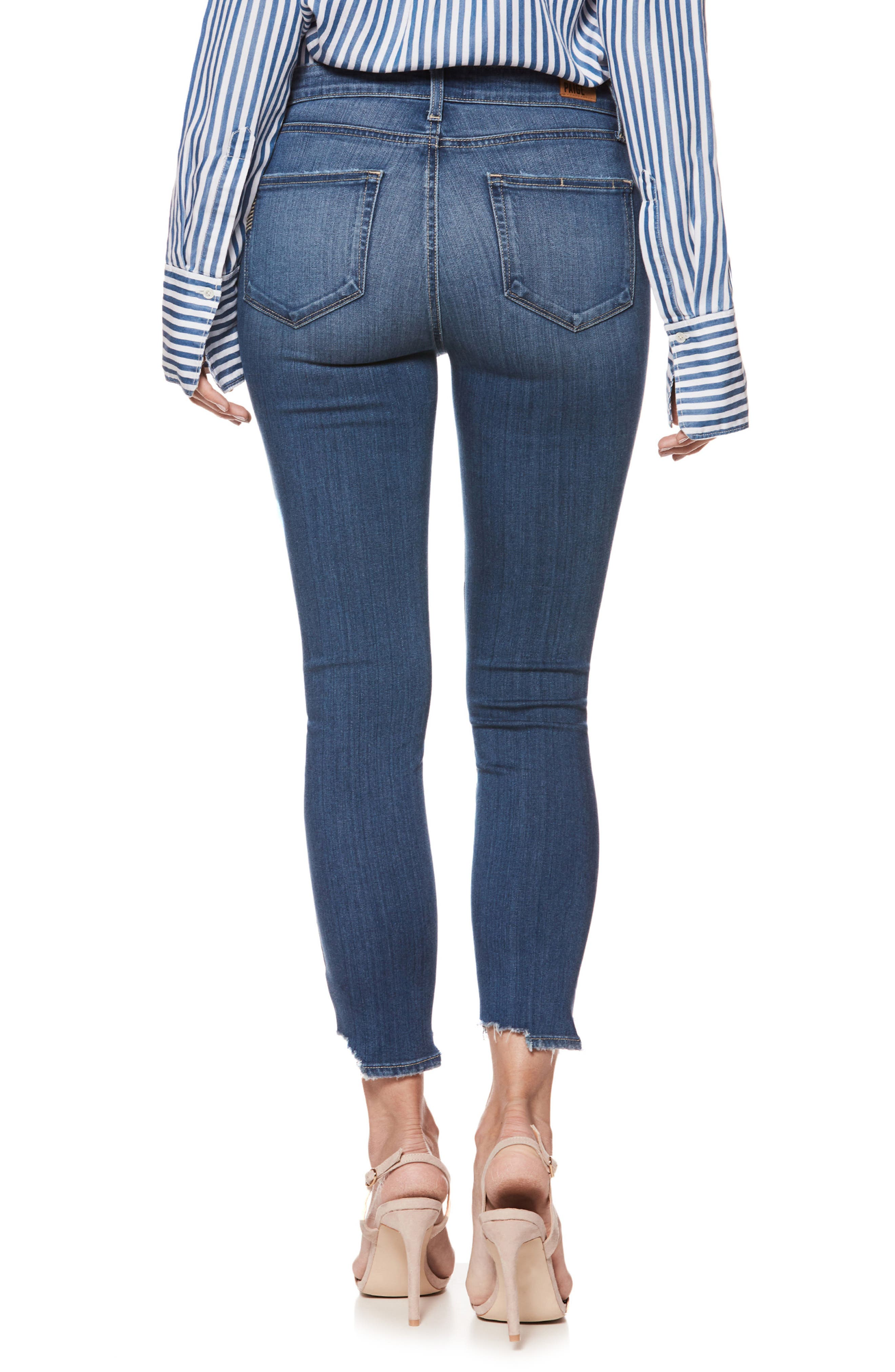 Transcend - Hoxton High Waist Crop Skinny Jeans,                             Alternate thumbnail 3, color,                             Lived In Henderson