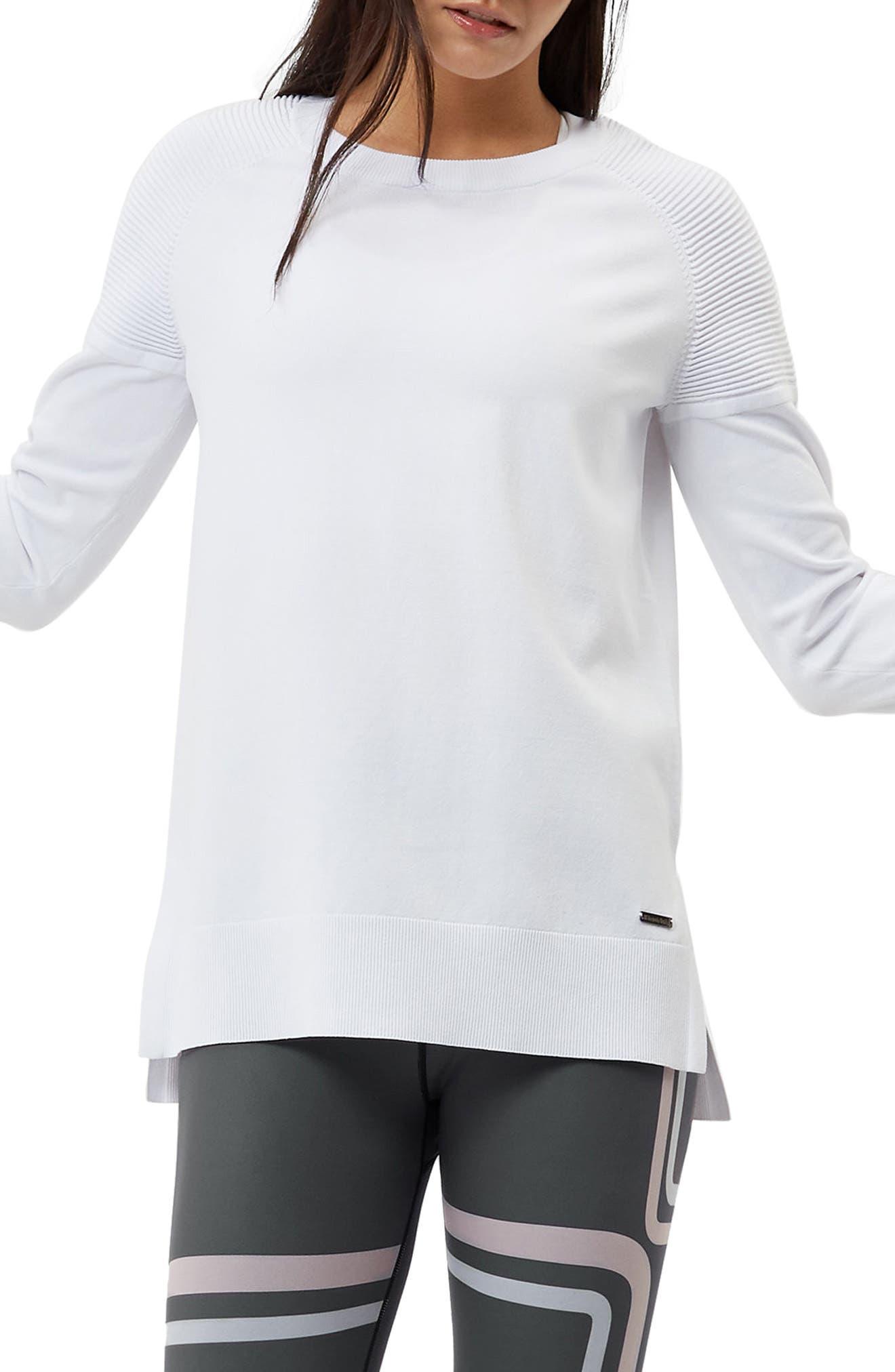 8 Track Sweatshirt,                             Main thumbnail 1, color,                             White