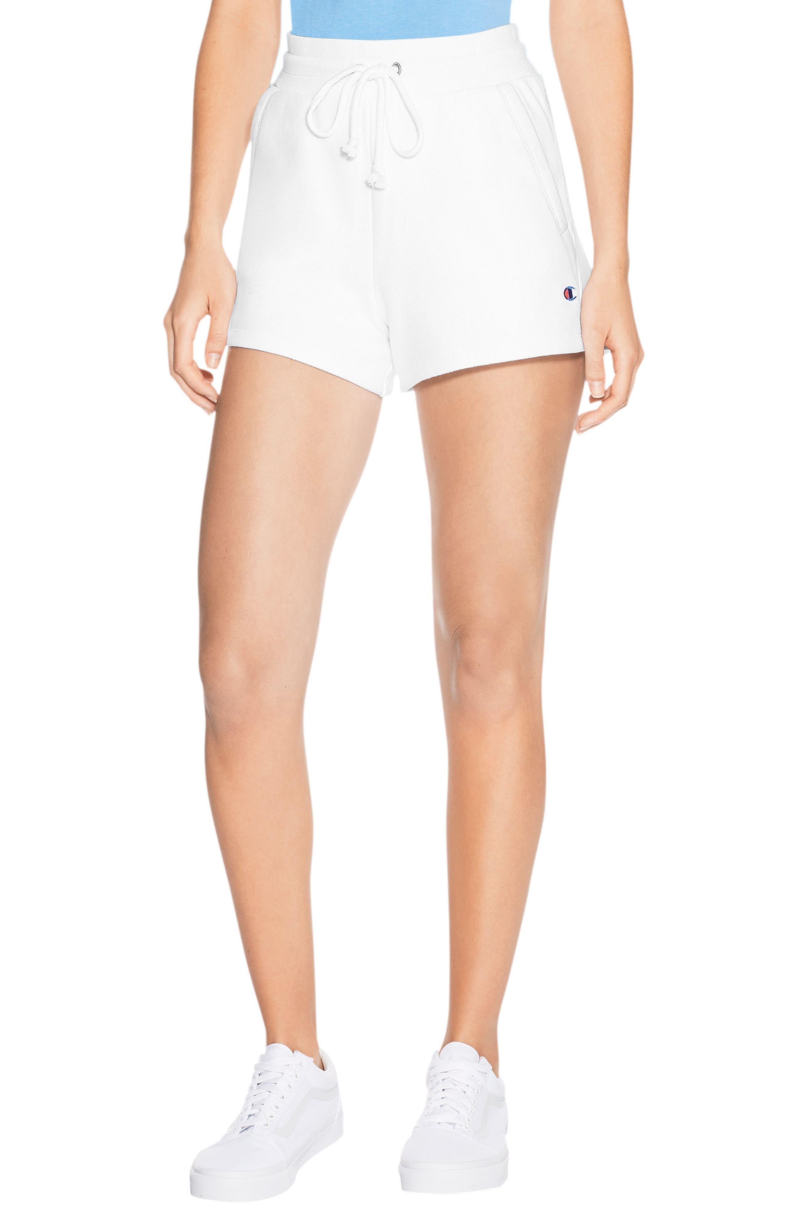 Reverse Weave Shorts,                         Main,                         color, White