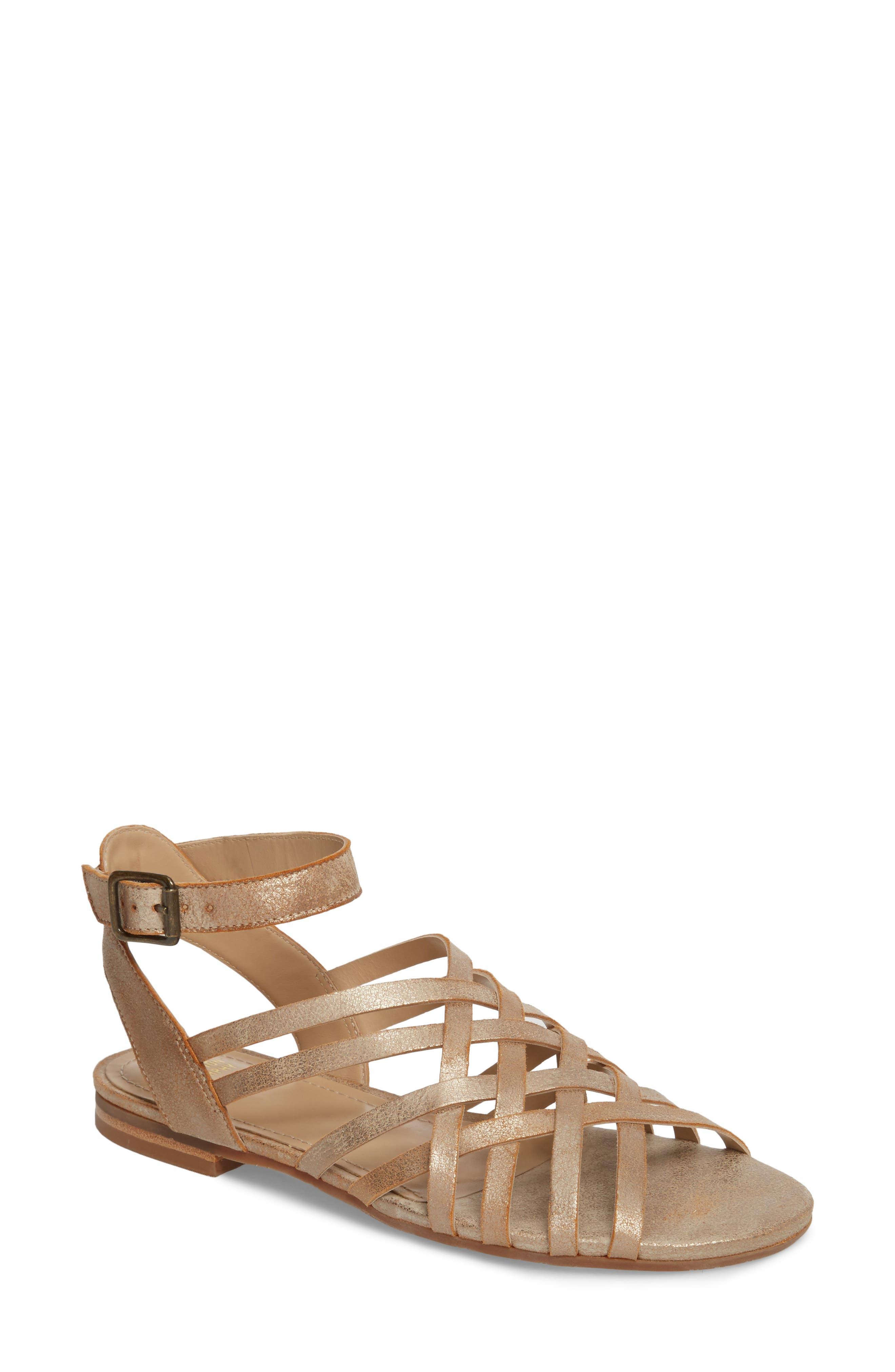 Hallie Sandal,                         Main,                         color, Copper Leather