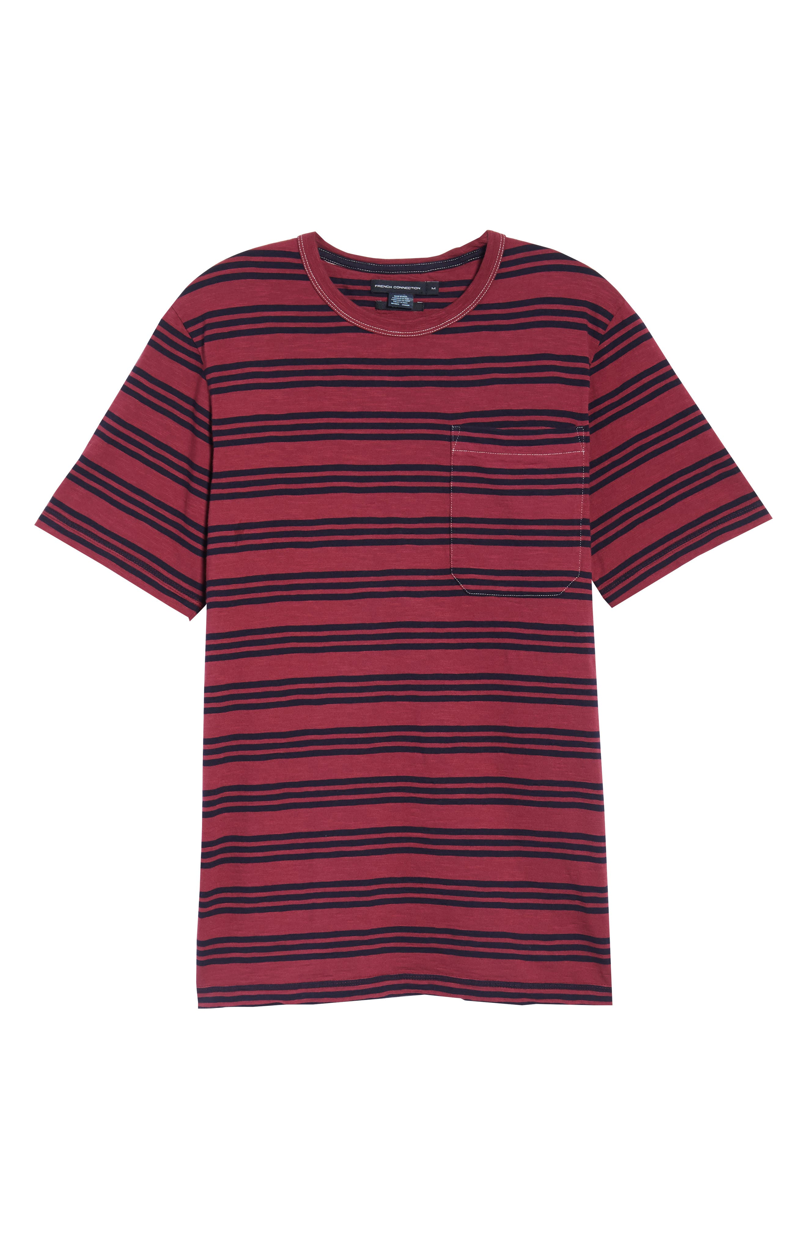 Alternate Image 6  - French Connection Triple Stripe Garment Dyed T-Shirt