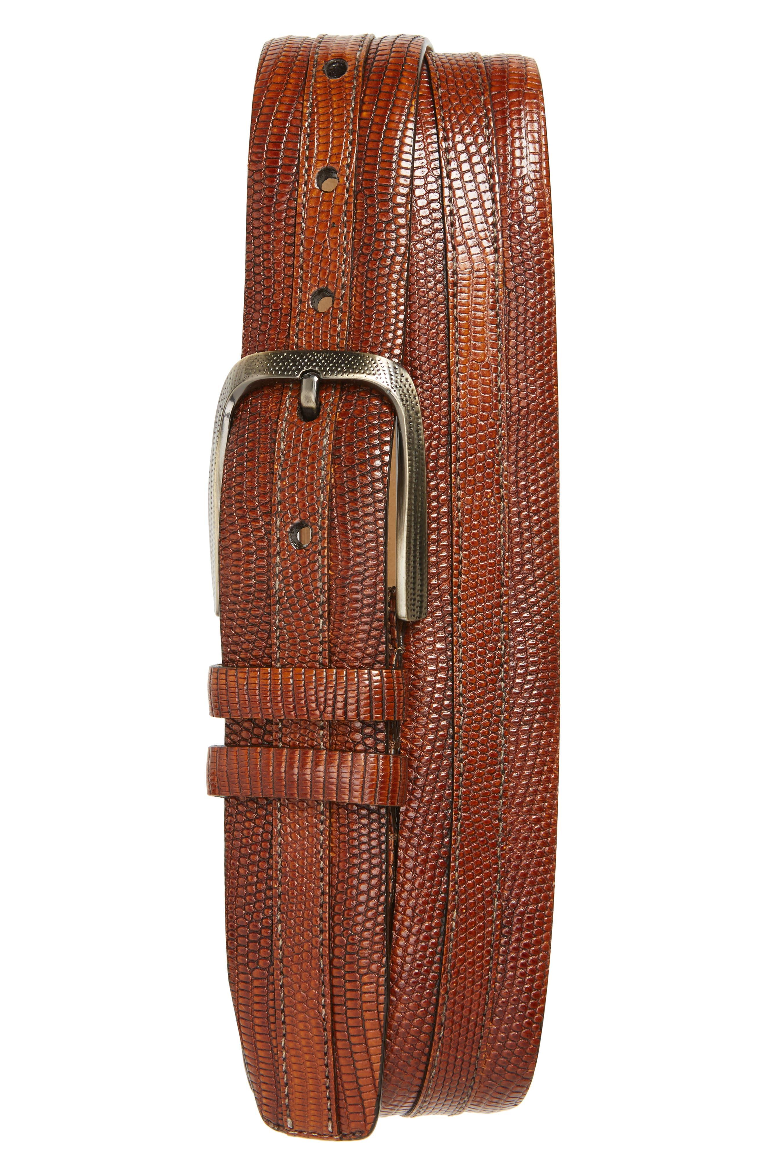 Mezlan Lizard Leather Belt