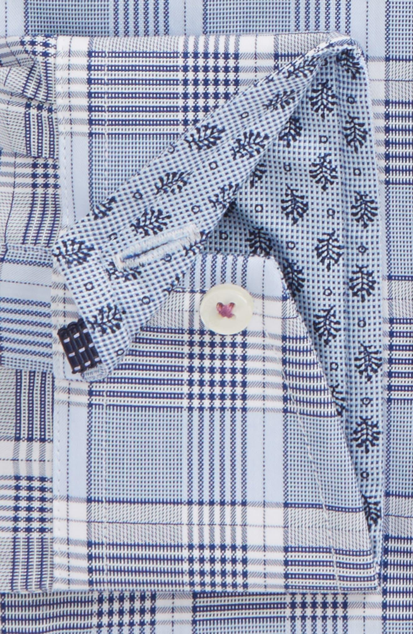 Swanney Endurance Trim Fit Plaid Dress Shirt,                             Alternate thumbnail 2, color,                             Blue