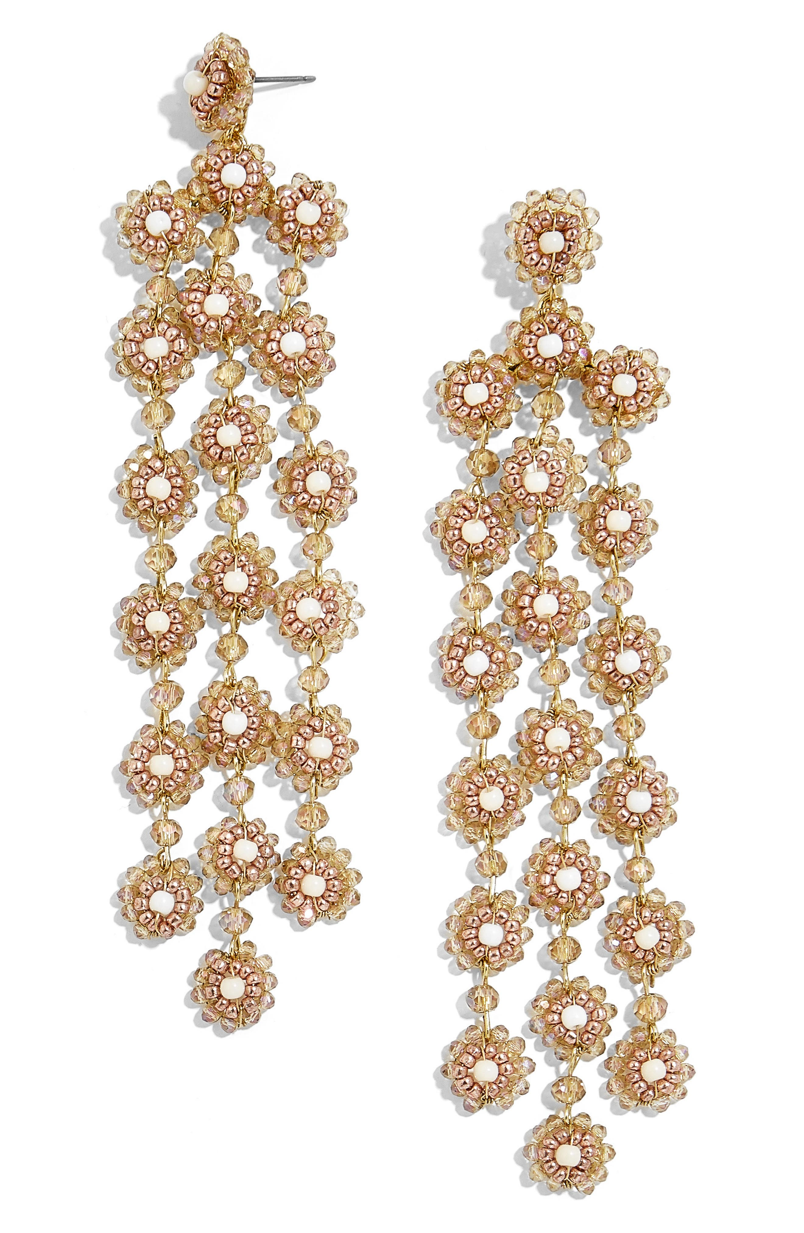 BaubleBar Shiori Beaded Chandelier Earrings