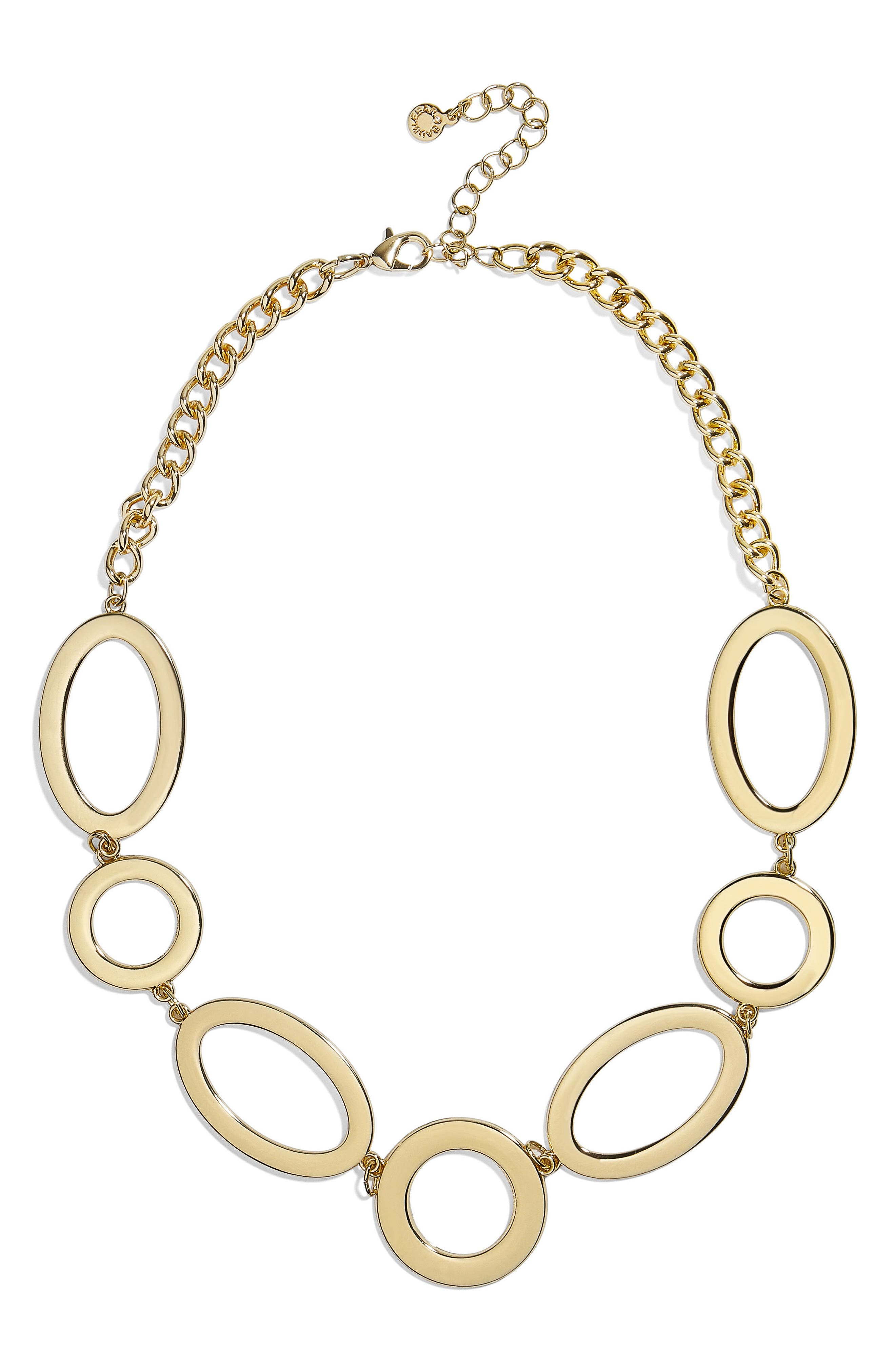 Romona Oval & Circle Statement Necklace,                             Main thumbnail 1, color,                             Gold