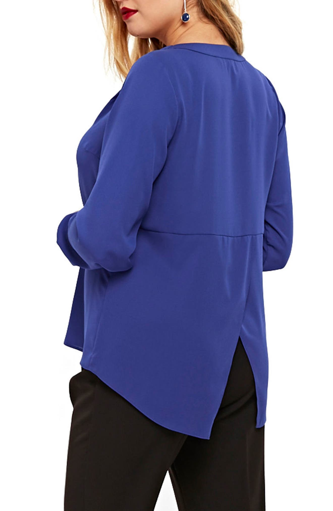 Wrap Back Shirt,                             Alternate thumbnail 2, color,                             Muted Blue