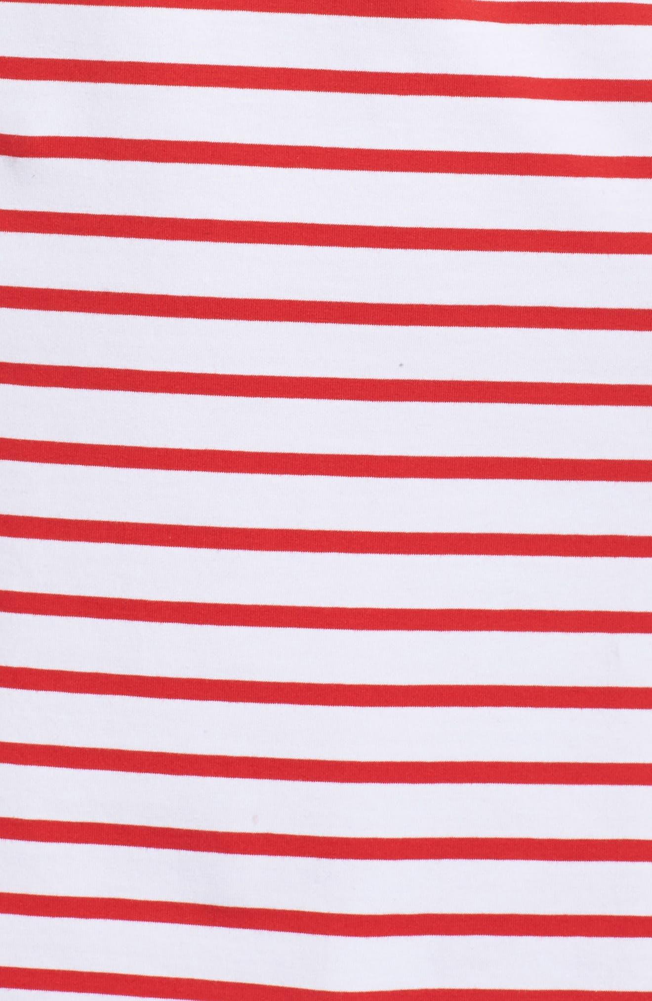 Stripe Shift Dress,                             Alternate thumbnail 8, color,                             Red Stripe