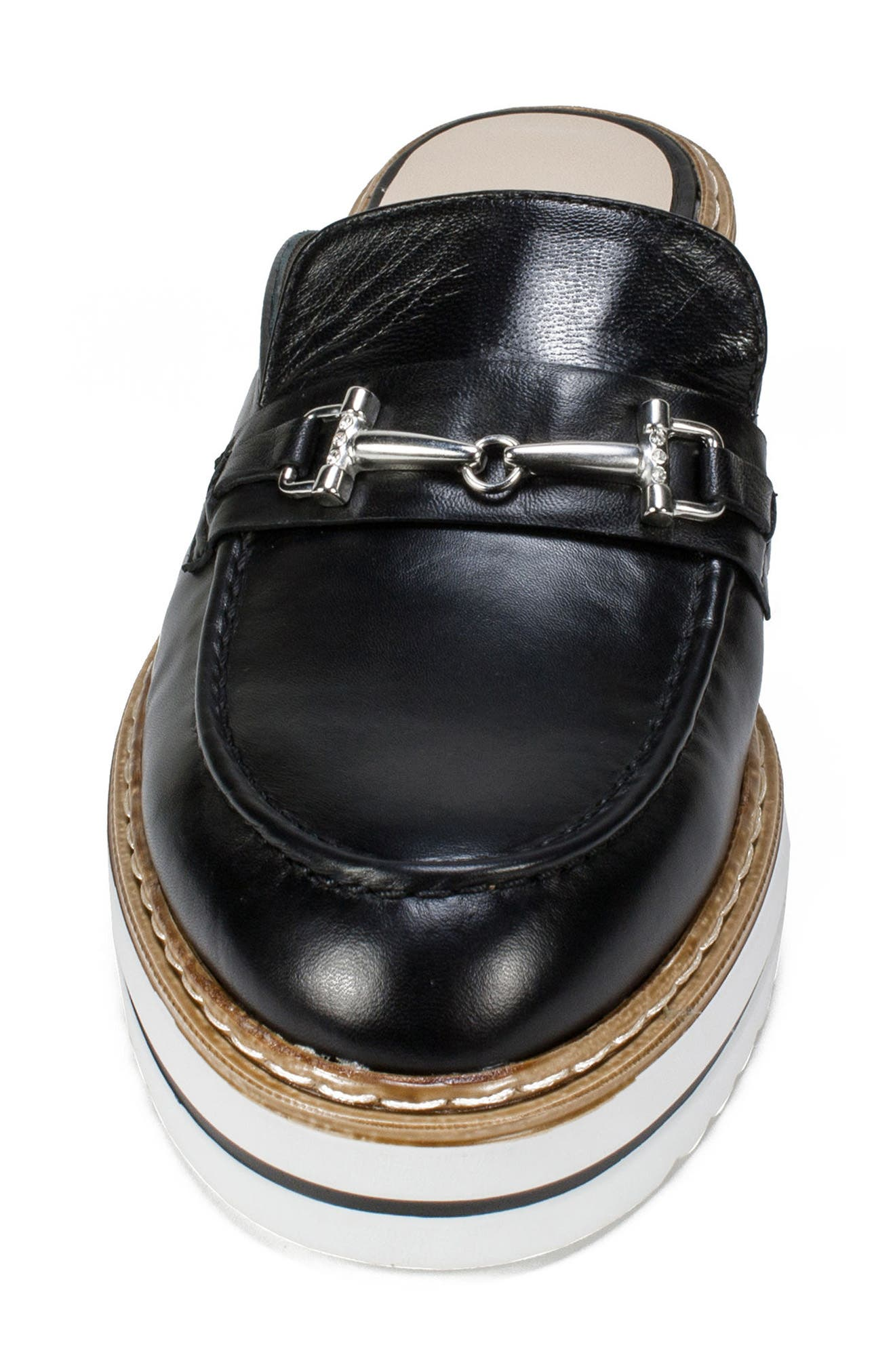 by White Mountain Baline Mule,                             Alternate thumbnail 4, color,                             Black Leather