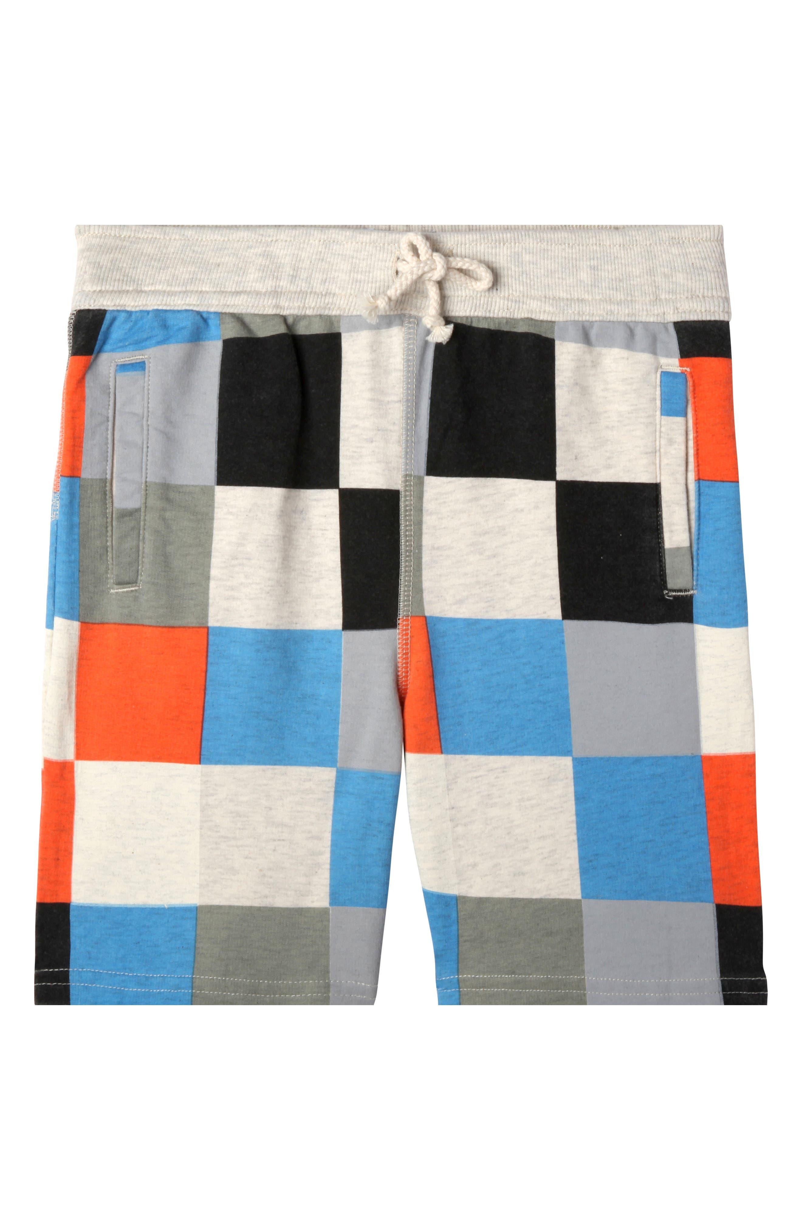 Levi Print Knit Shorts,                         Main,                         color, Oatmeal Heather