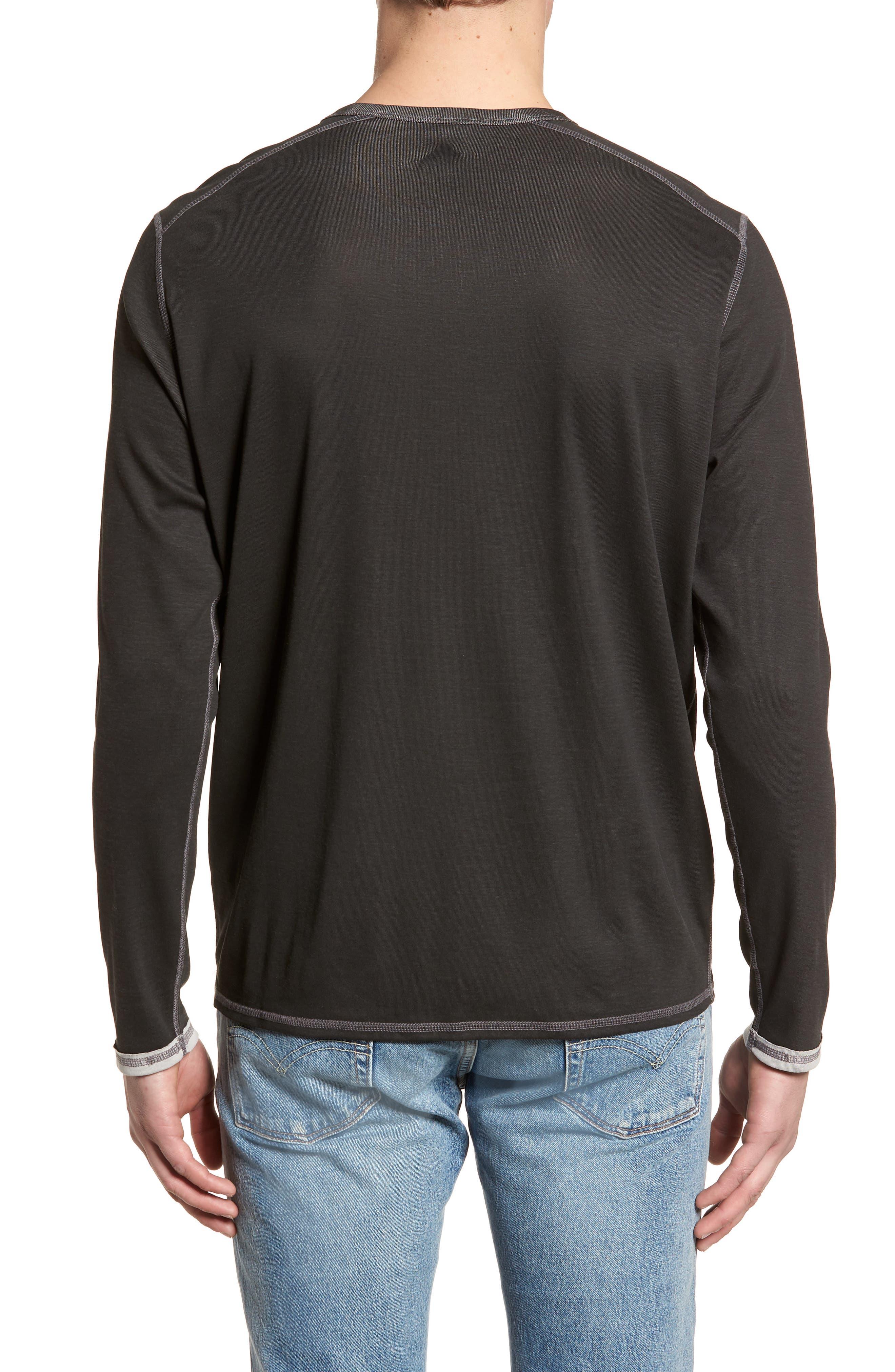 Dual in the Sun Reversible T-Shirt,                             Alternate thumbnail 2, color,                             Black