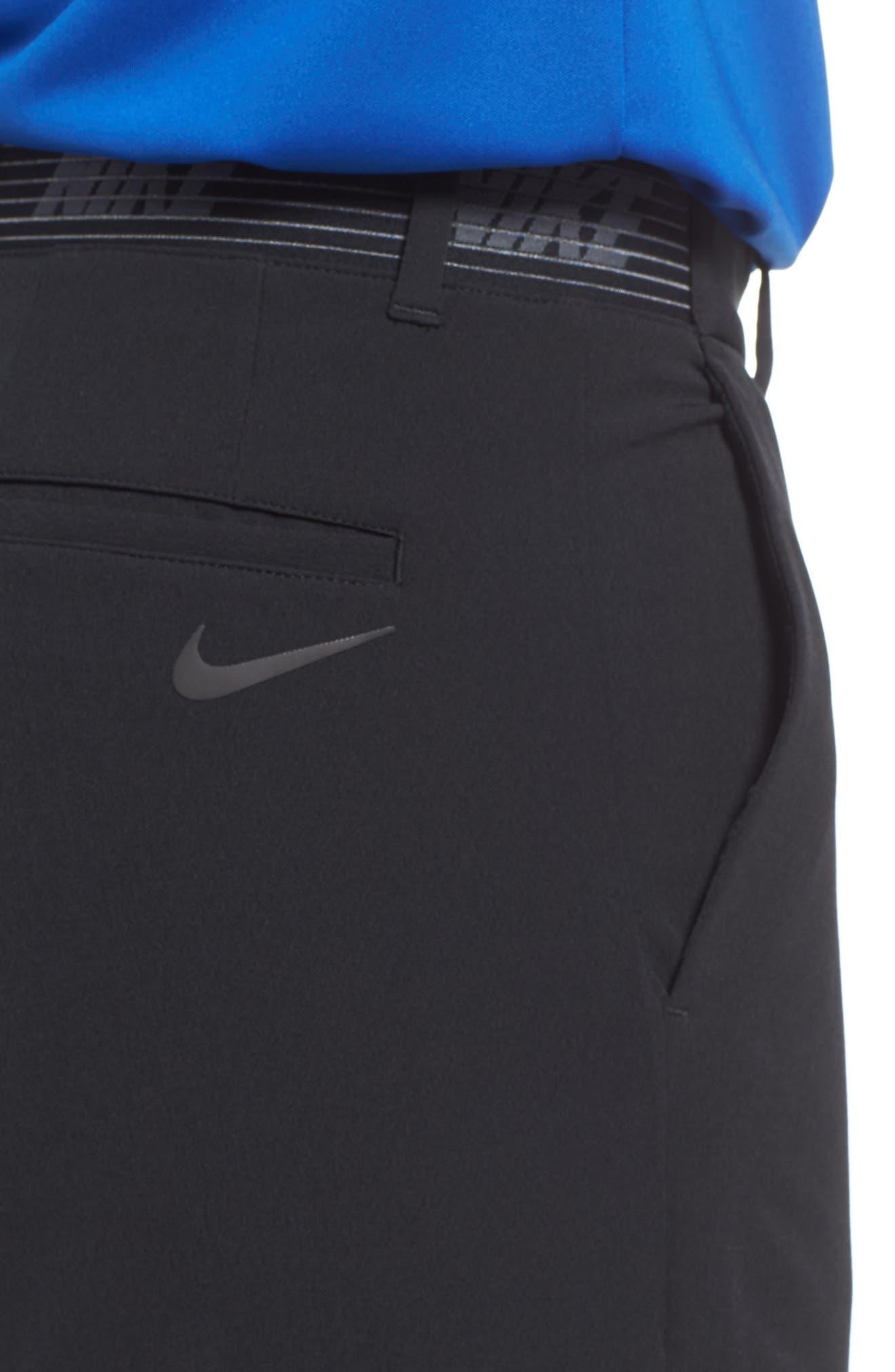 Dry Flex Slim Fit Golf Shorts,                             Alternate thumbnail 4, color,                             Black/ Black