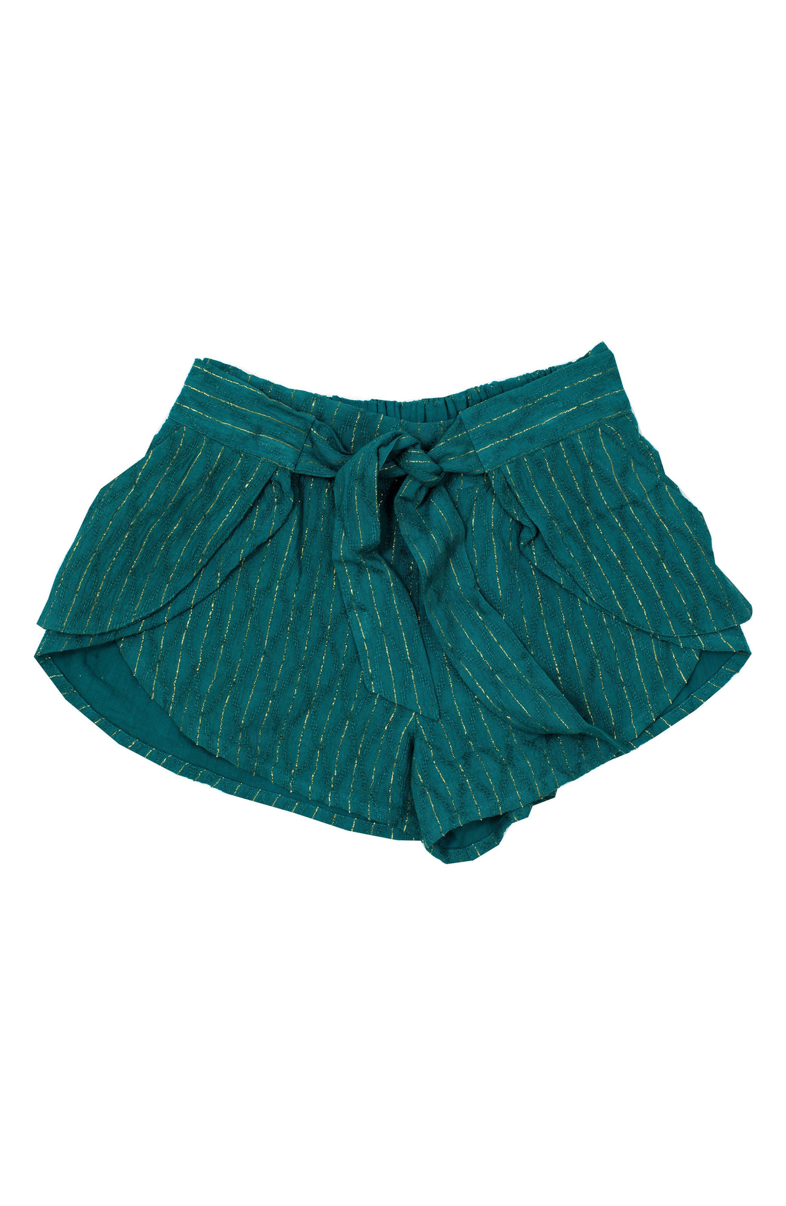 Eclipse Metallic Stripe Shorts,                             Main thumbnail 1, color,                             Sage Green