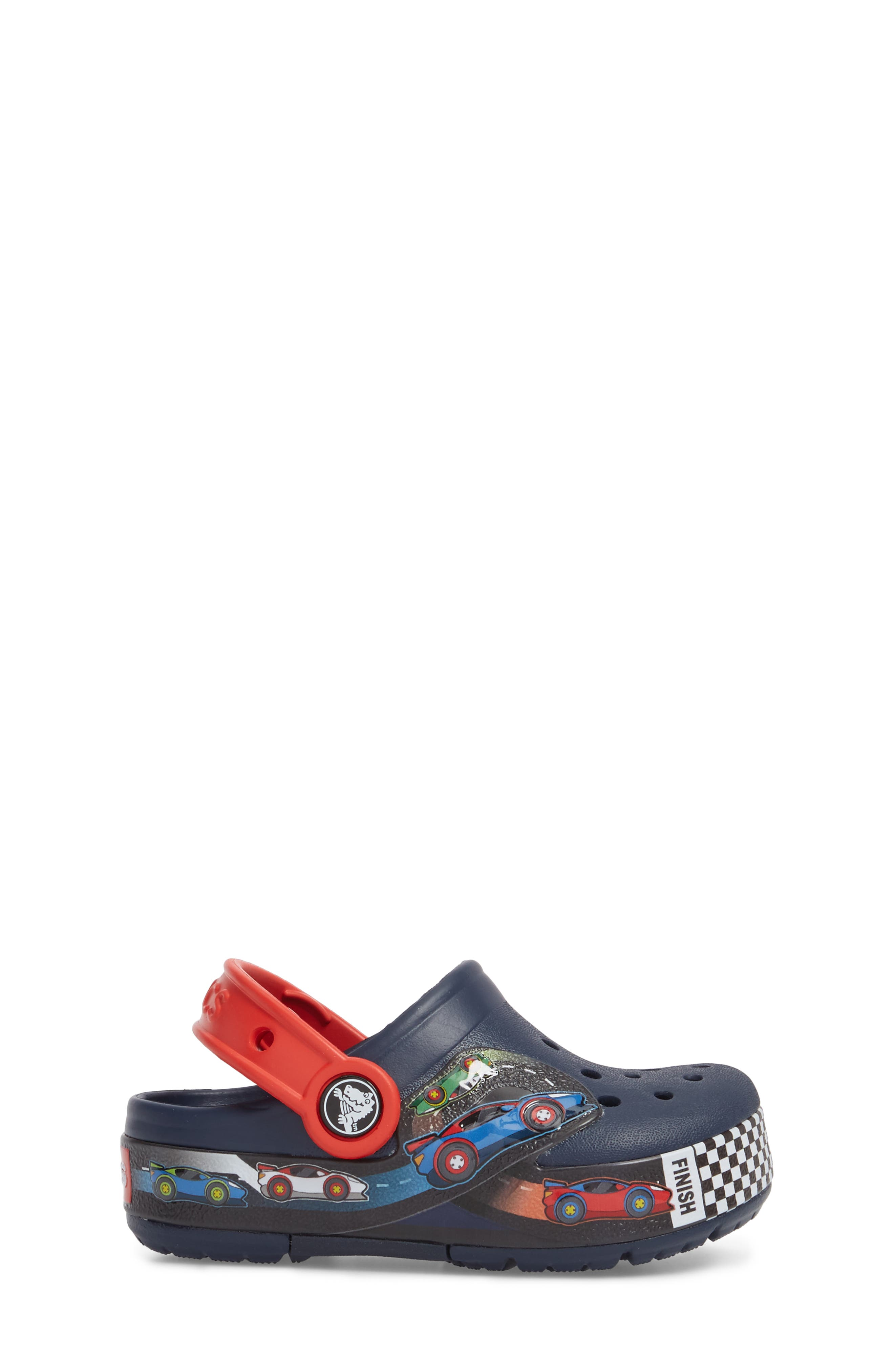 Crocband Fun Lab Light-Up Slip-On,                             Alternate thumbnail 3, color,                             Navy