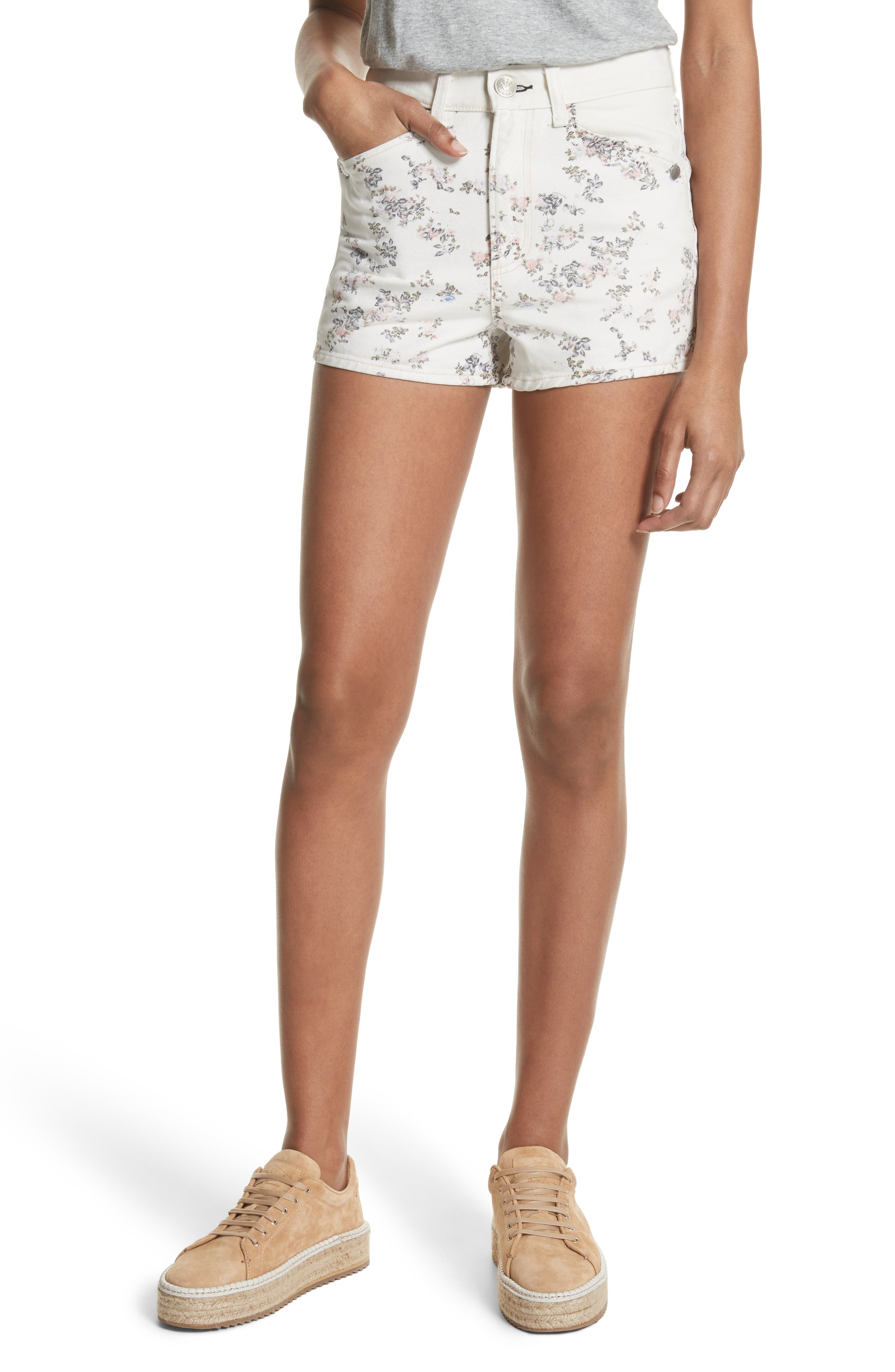 Ellie Twill Shorts,                         Main,                         color, Micro Floral