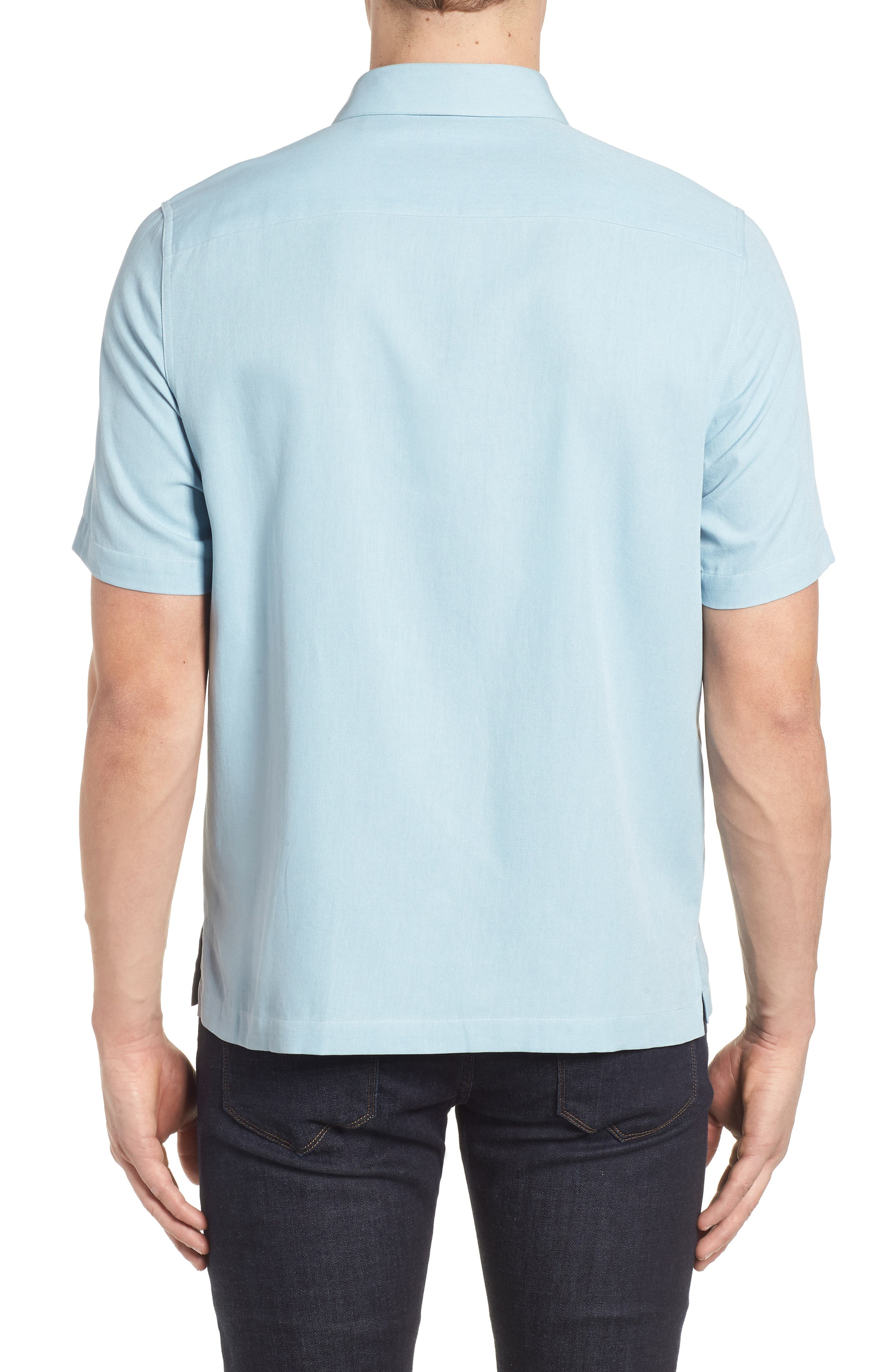 Retromod Camp Shirt,                             Alternate thumbnail 2, color,                             Niagra Blue