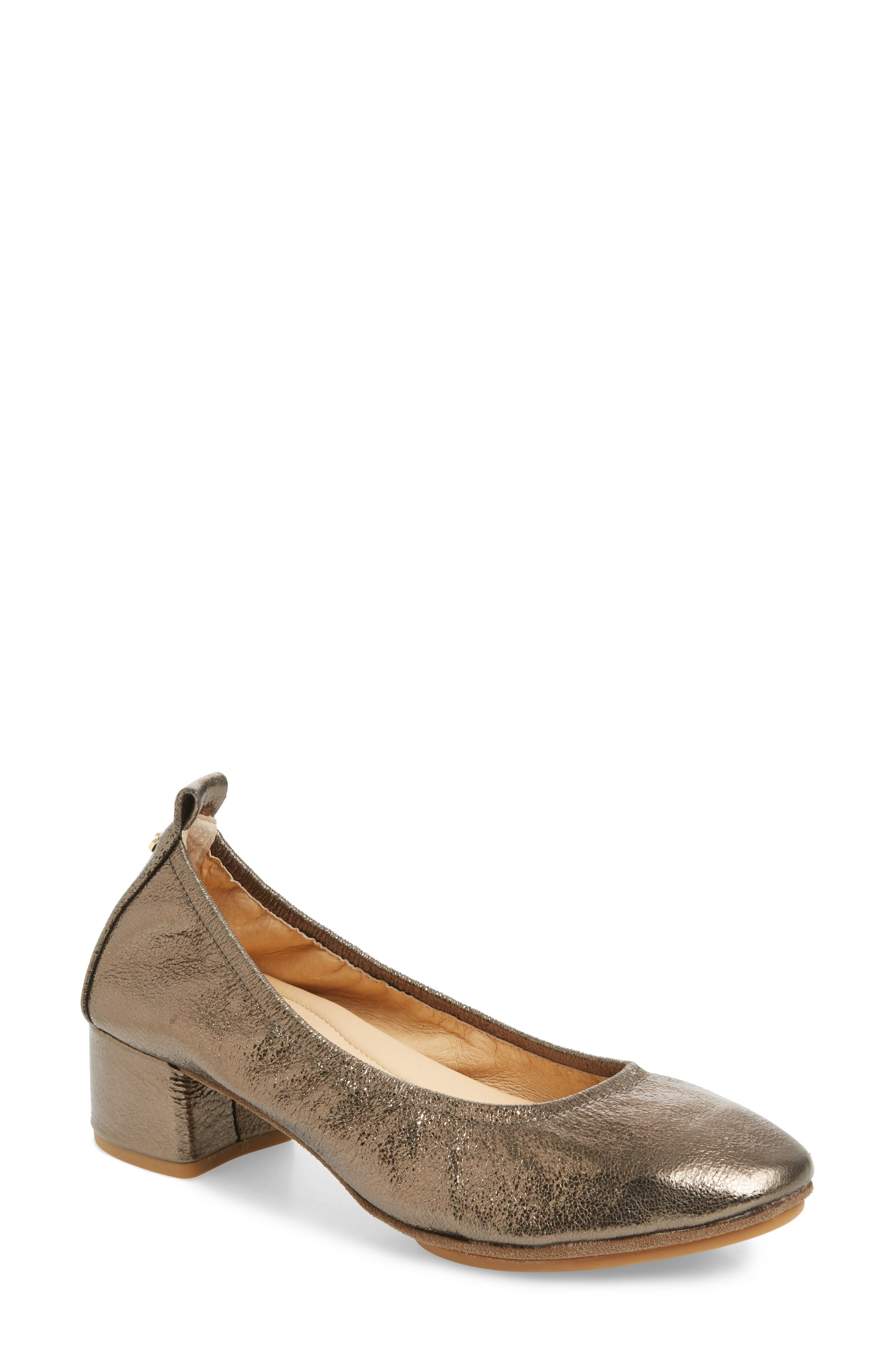 Nadia Pump,                         Main,                         color, Gold Leather