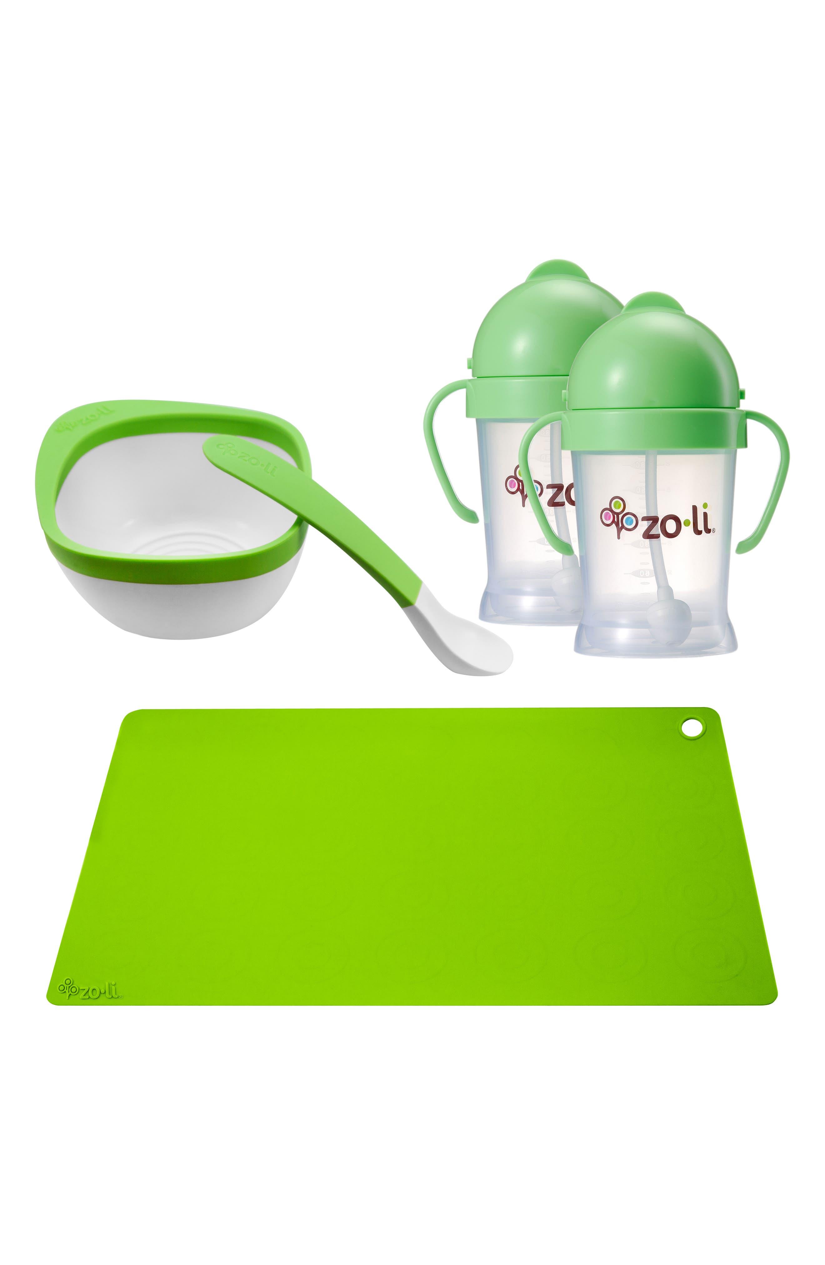 Toddler Mealtime 5-Piece Set,                             Main thumbnail 1, color,                             Green