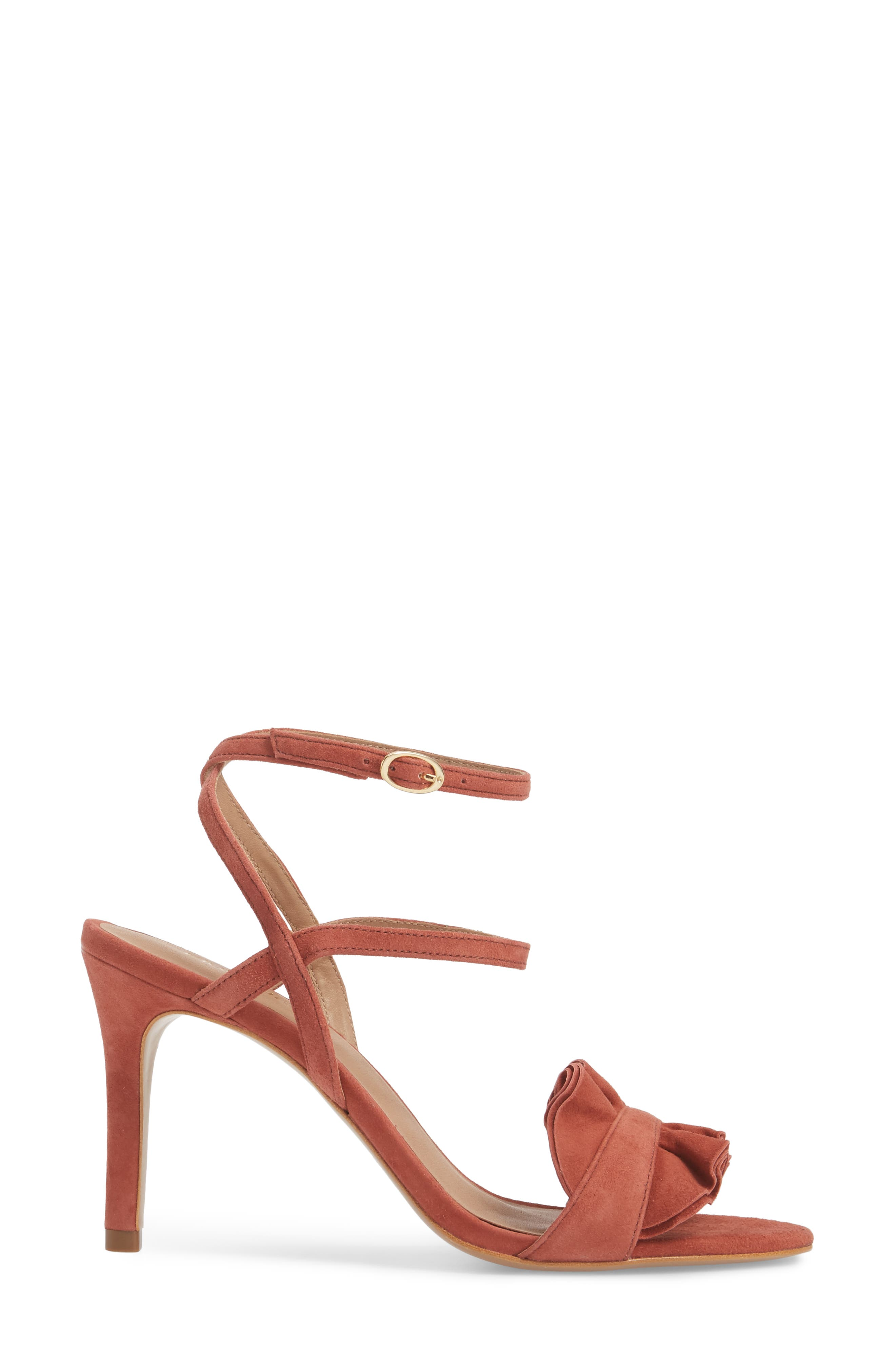 Ansley Sandal,                             Alternate thumbnail 3, color,                             Spice Suede