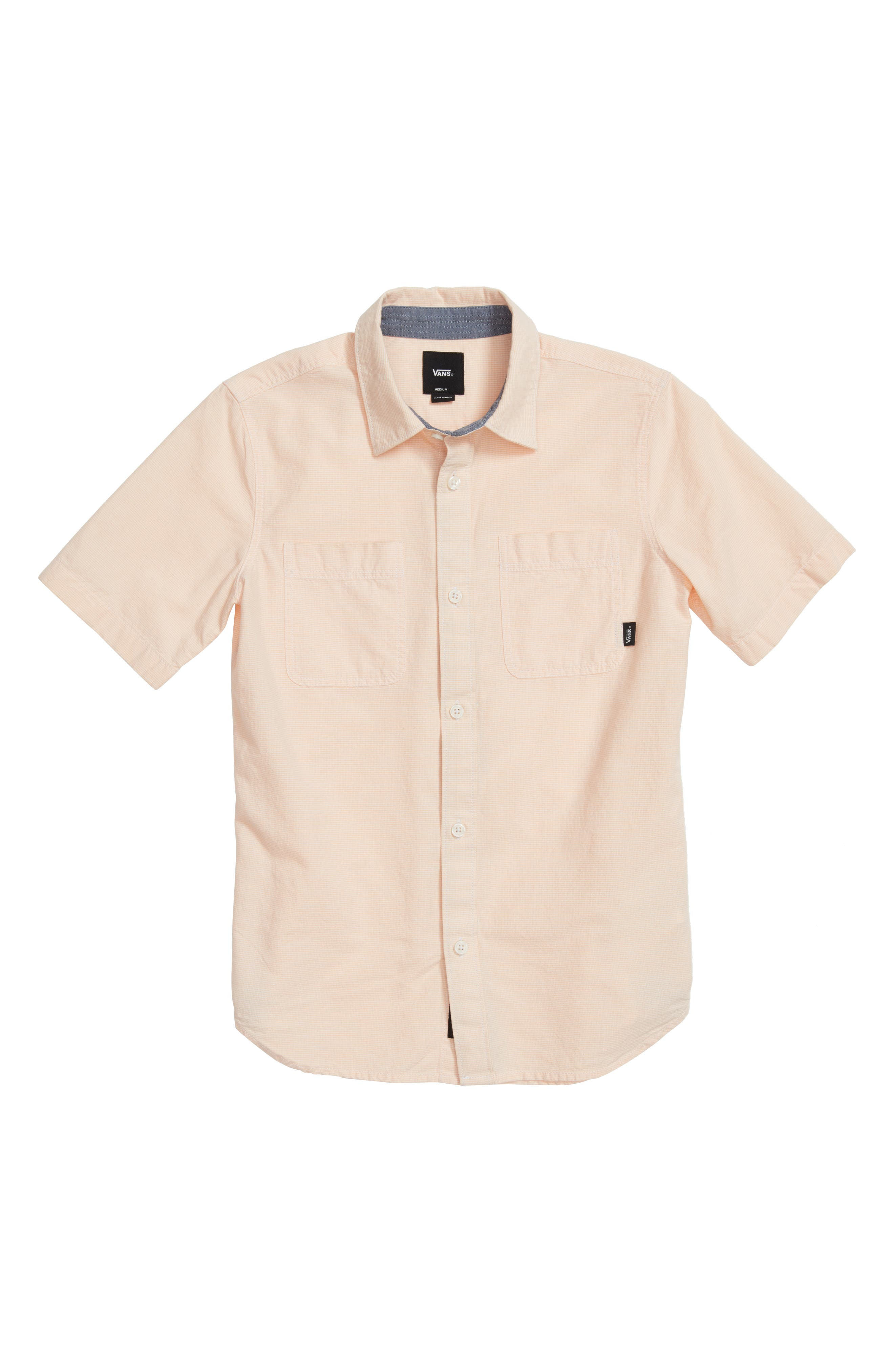 Wexford Woven Shirt,                         Main,                         color, Apricot Ice
