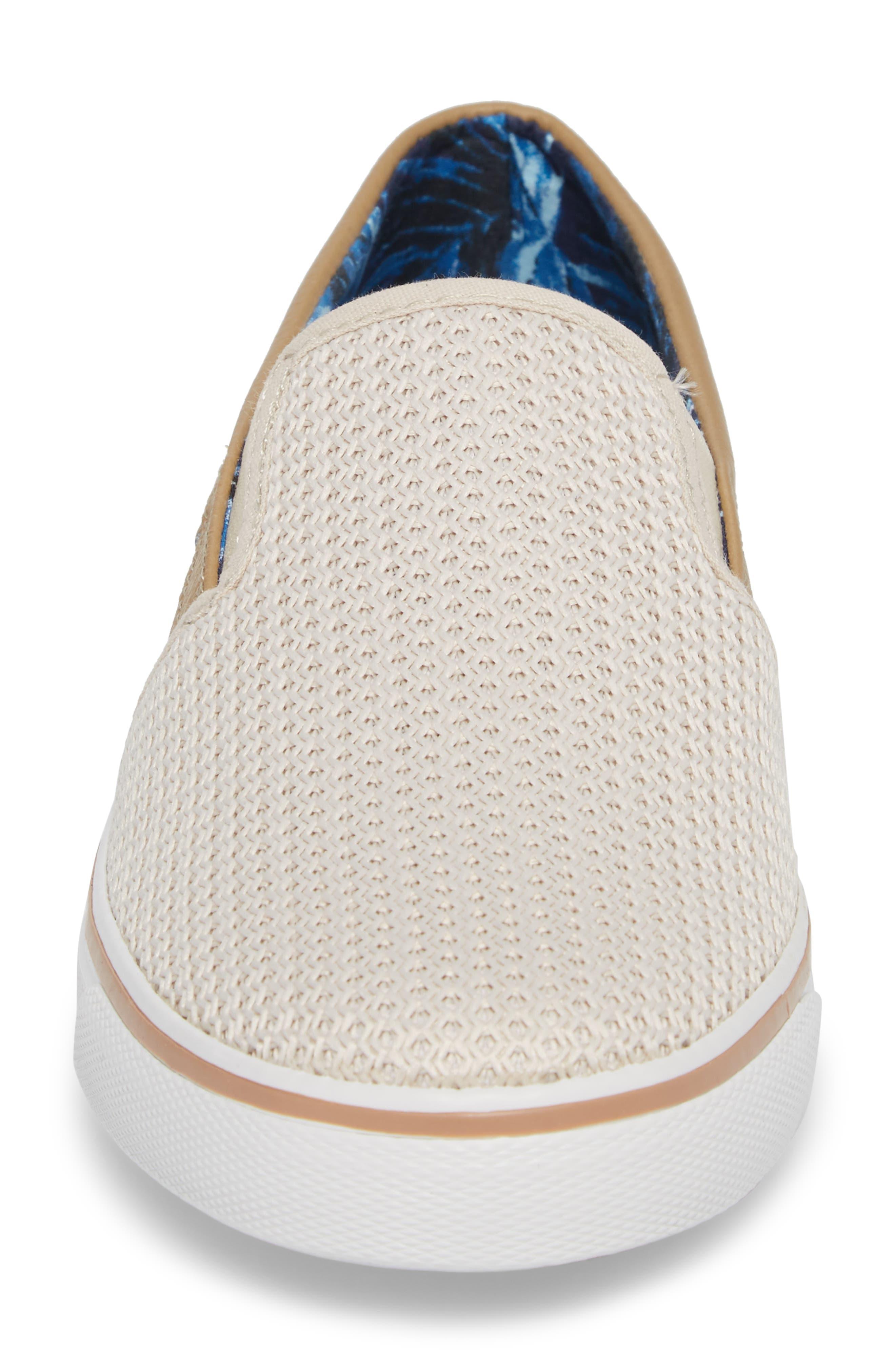 Exodus Mesh Slip-On Sneaker,                             Alternate thumbnail 4, color,                             Cream Mesh/ Textile