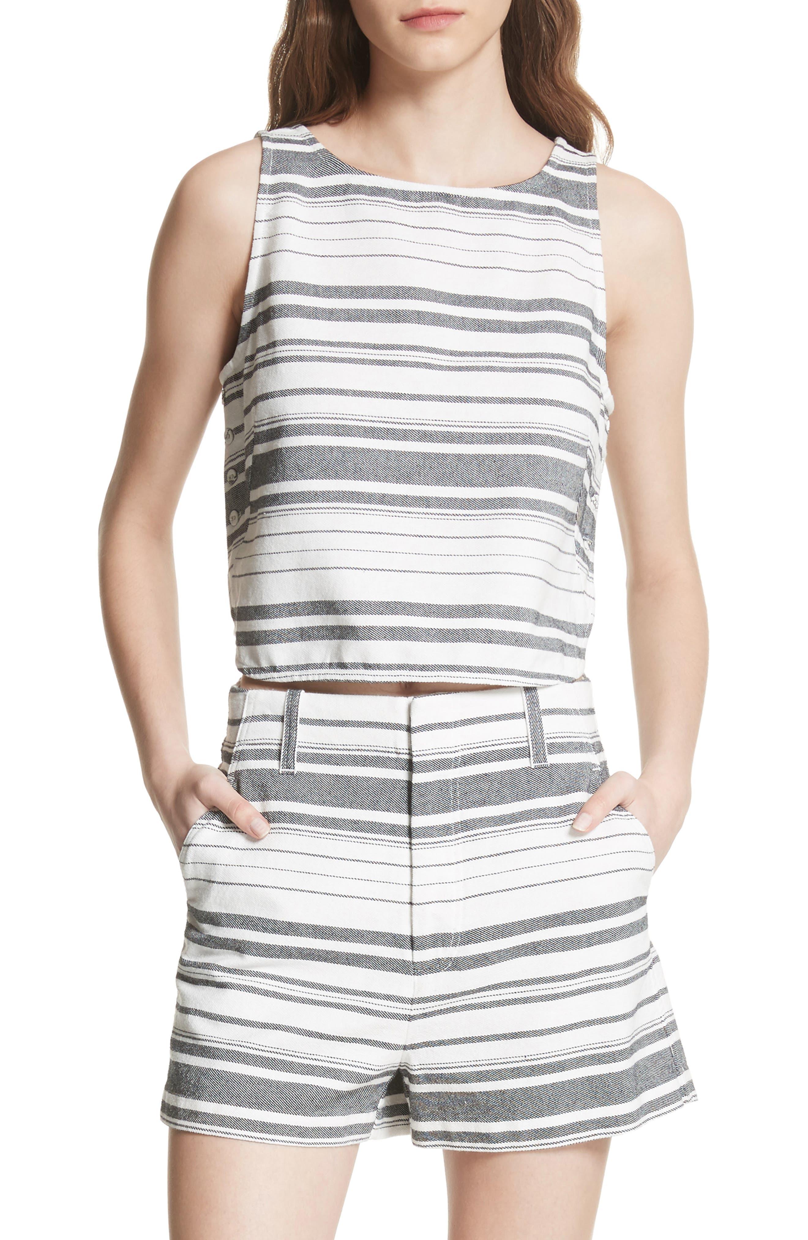 Joie Bryga Stripe Cotton Twill Top