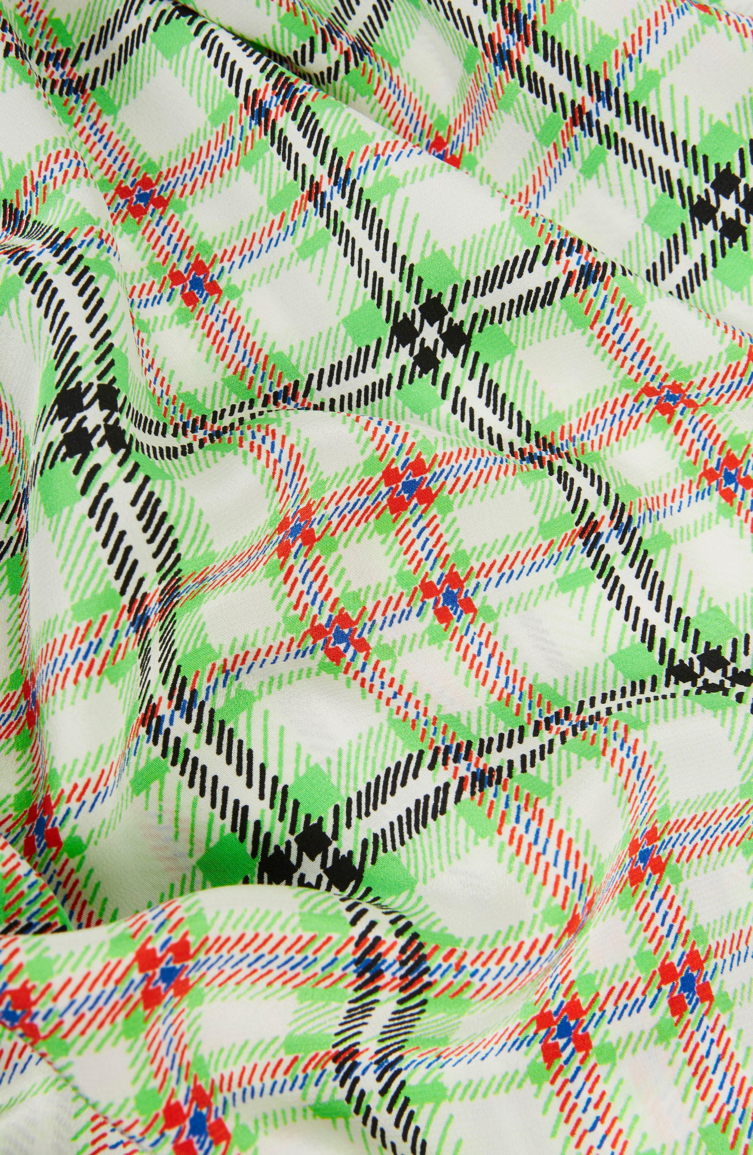 Silk Bowling Shirt,                             Alternate thumbnail 5, color,                             Green Multi