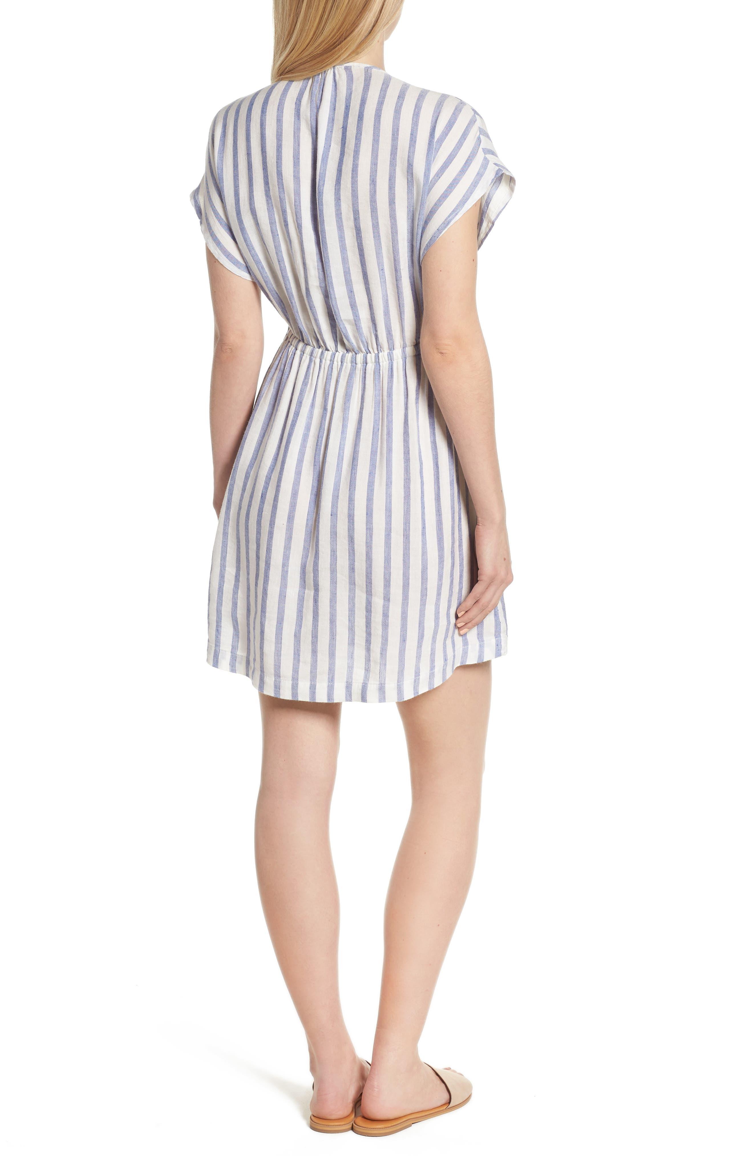 Stripe Tie Front Dress,                             Alternate thumbnail 2, color,                             Grenadines Stripe
