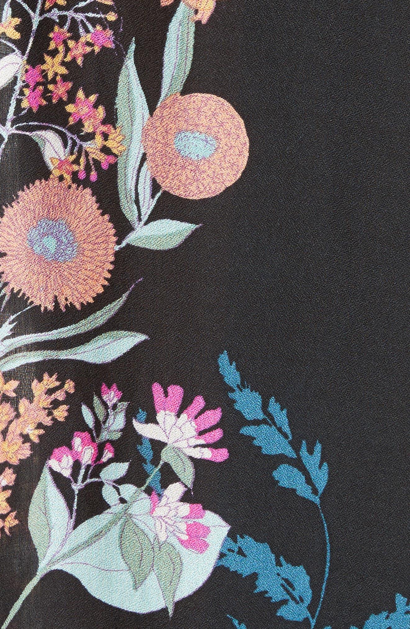 Embrace It Maxi Dress,                             Alternate thumbnail 6, color,                             Black Combo