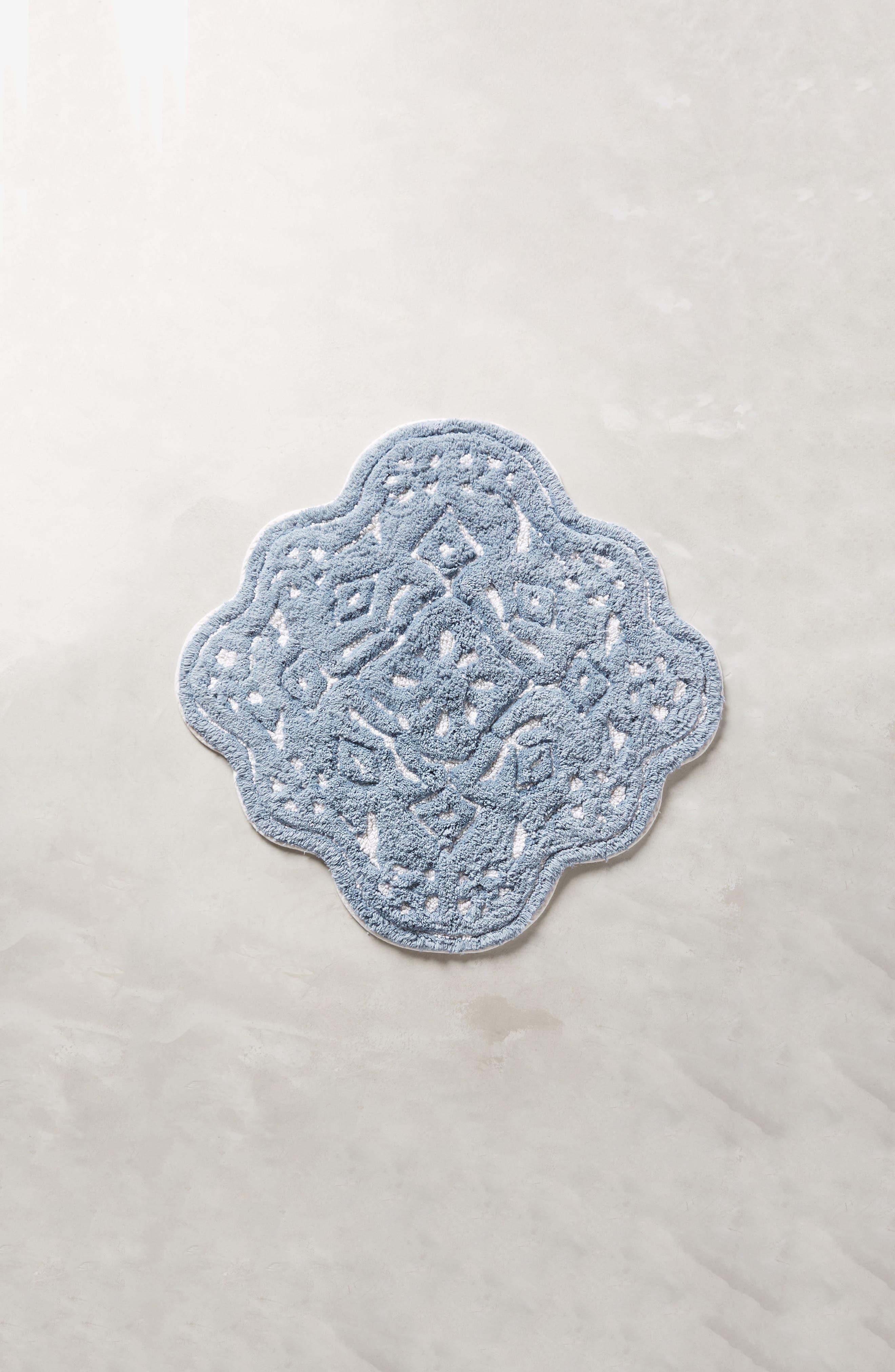 Mosaic Tile Bath Mat,                         Main,                         color, Blue