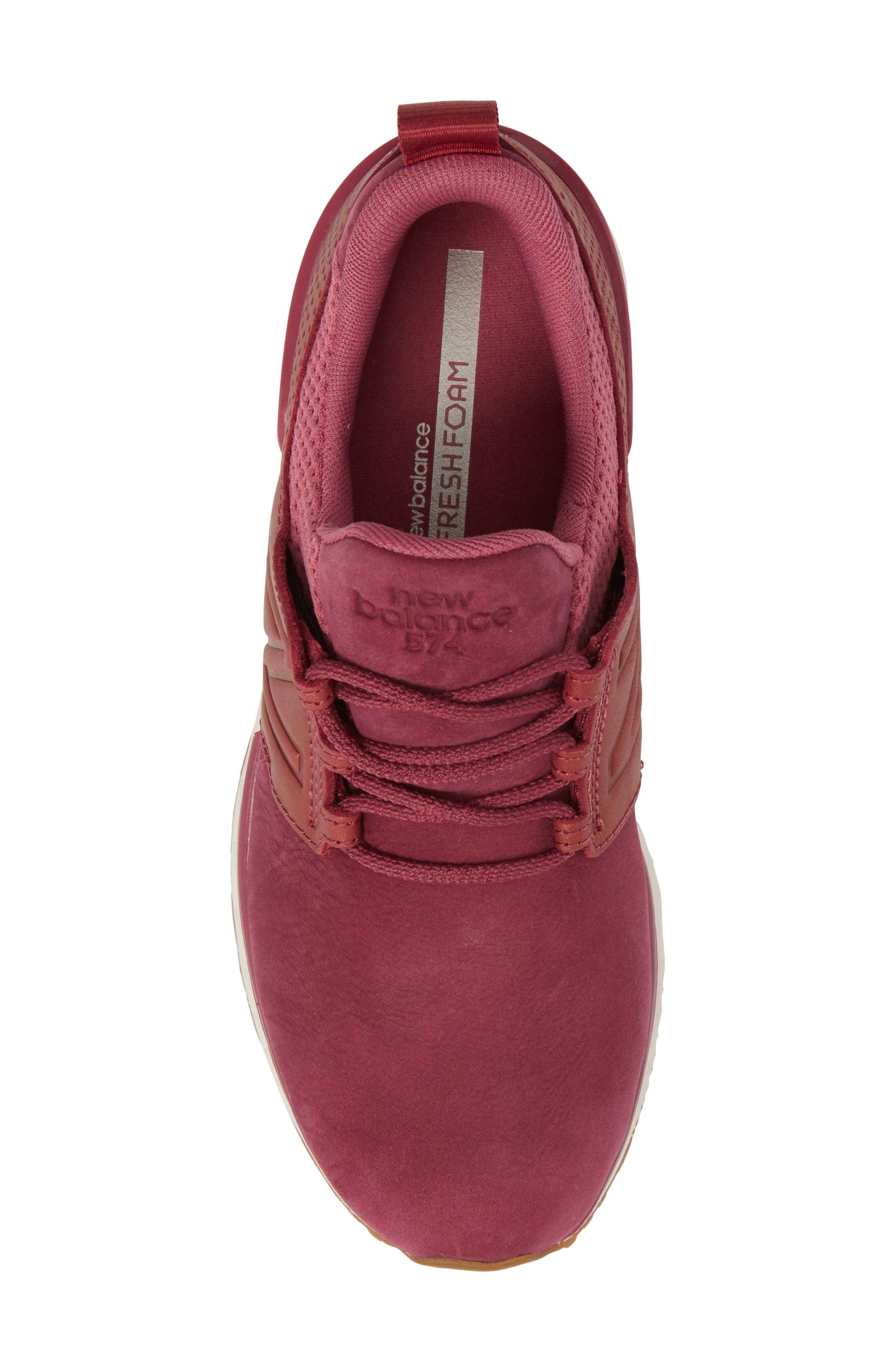 Nubuck 574 Sport Sneaker,                             Alternate thumbnail 5, color,                             Dragon Fruit