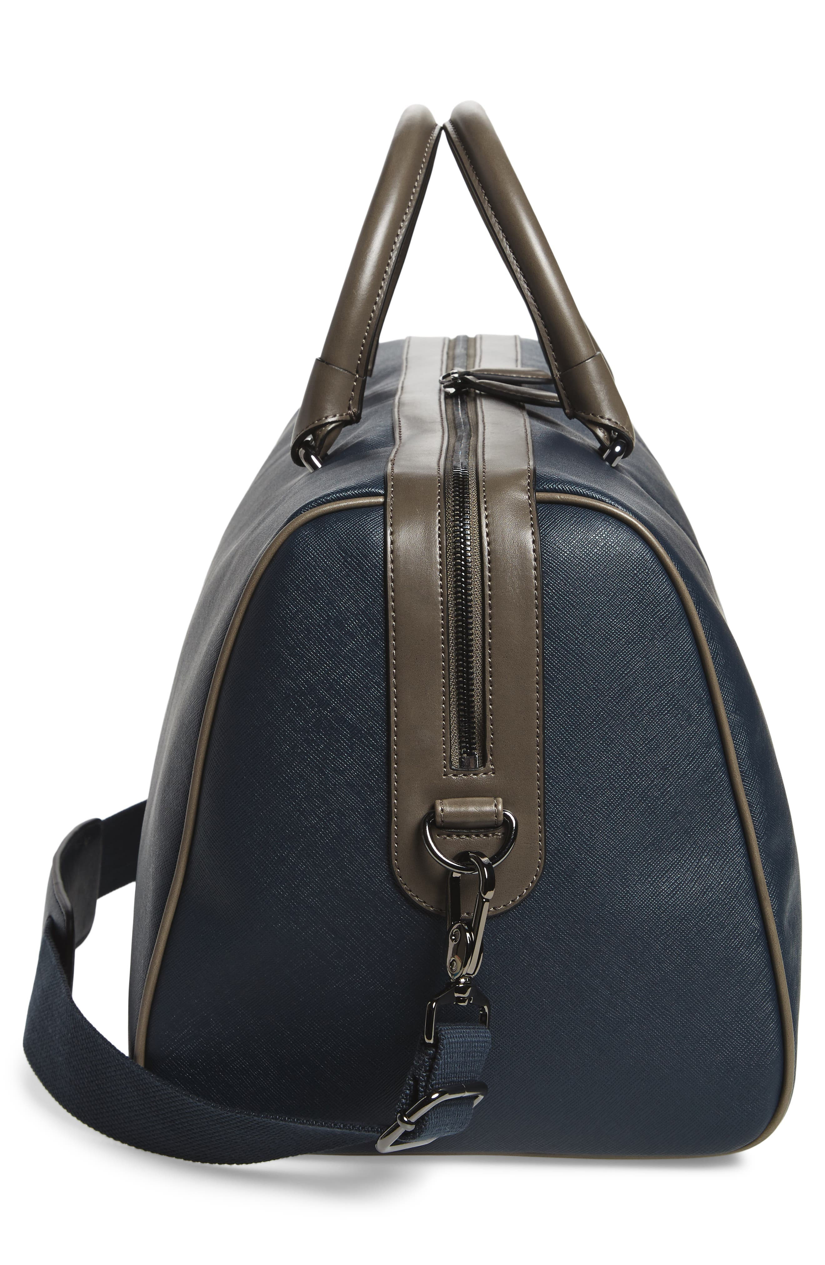 Haybail Crossgrain Holdall Duffel Bag,                             Alternate thumbnail 5, color,                             Navy