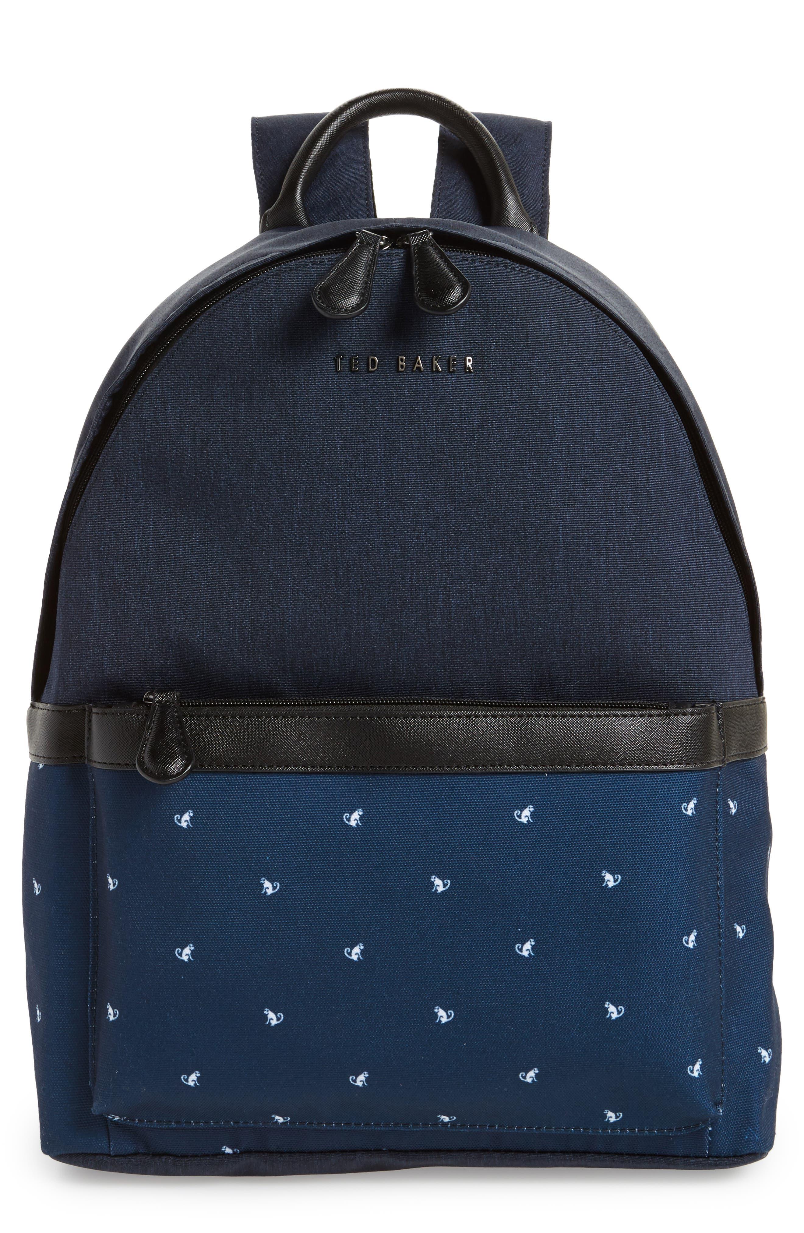 Mangoo Backpack,                         Main,                         color, Navy