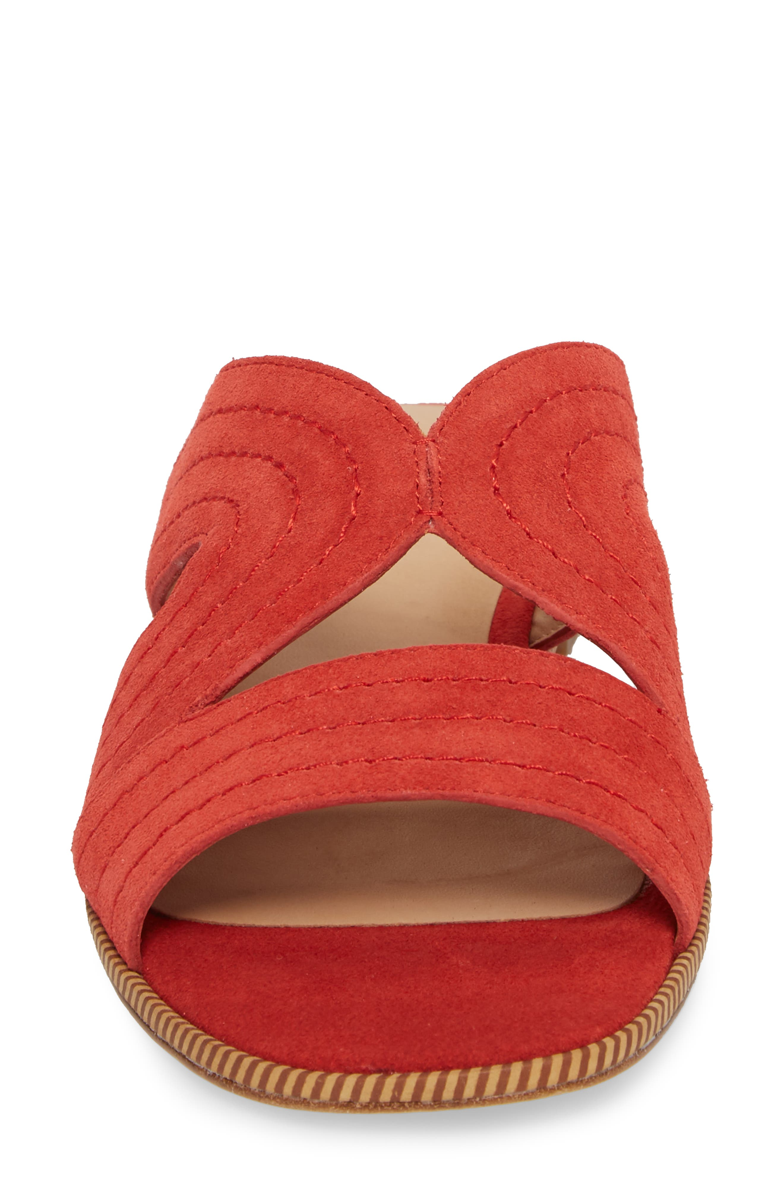 Paetyn Slide Sandal,                             Alternate thumbnail 4, color,                             Red