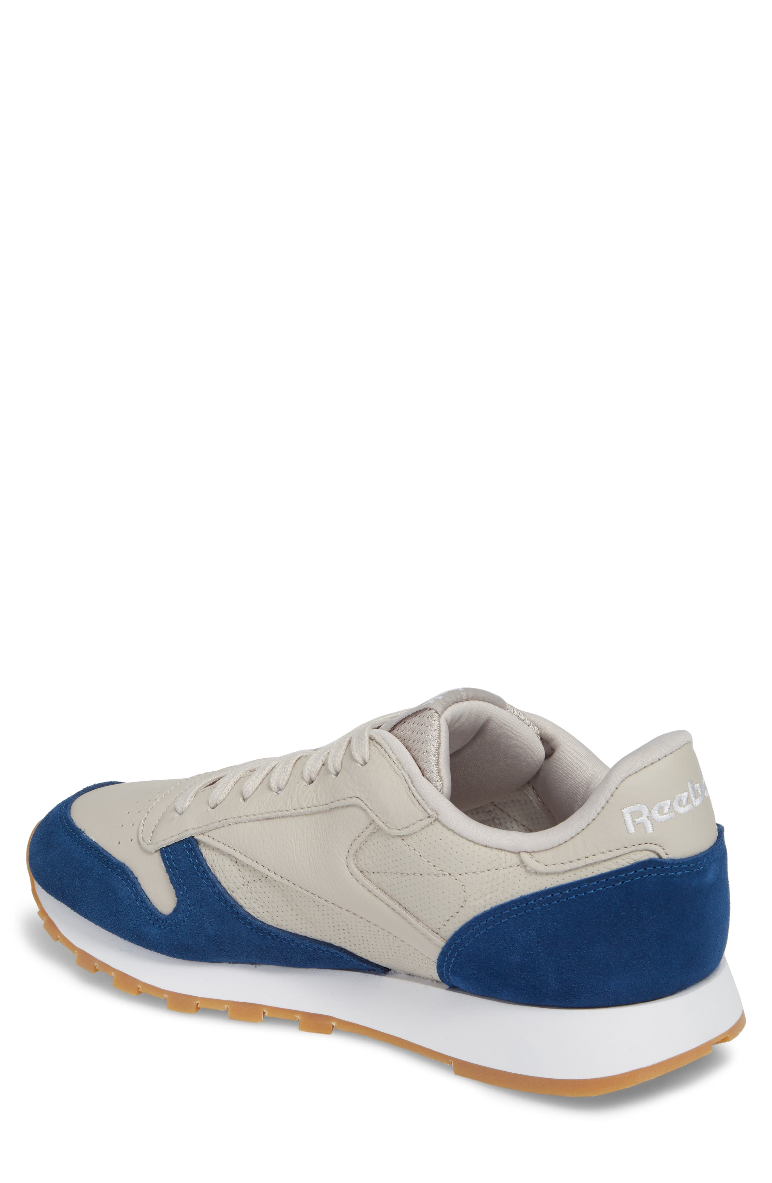 Classic Leather GI Sneaker,                             Alternate thumbnail 2, color,                             Sand Stone/ Washed Blue/ White
