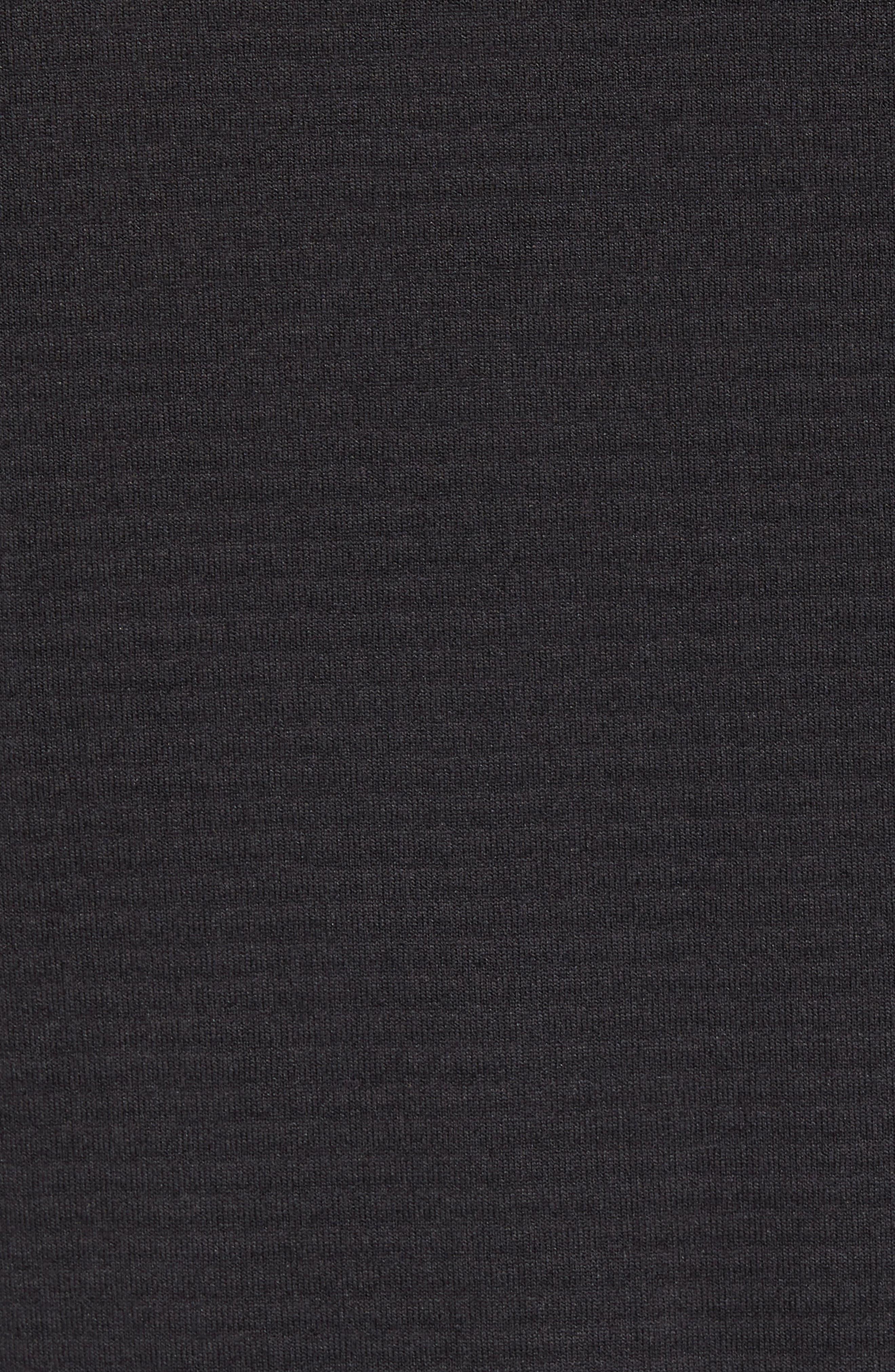 Progressor Power Grid<sup>™</sup> Hooded Fleece Jacket,                             Alternate thumbnail 5, color,                             Black/ Black