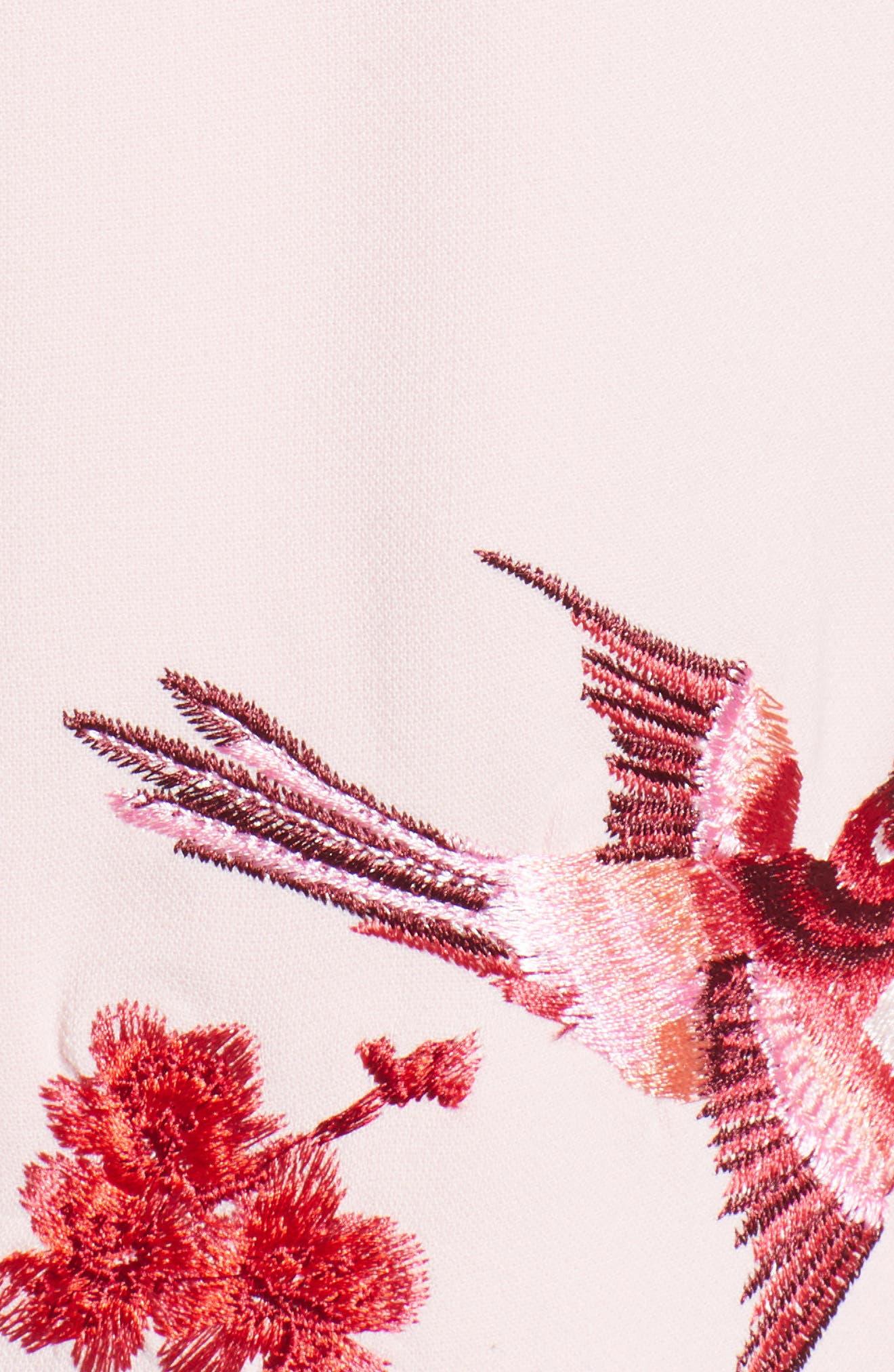 Bird & Blossom Spring Kimono,                             Alternate thumbnail 6, color,                             Baby Pink