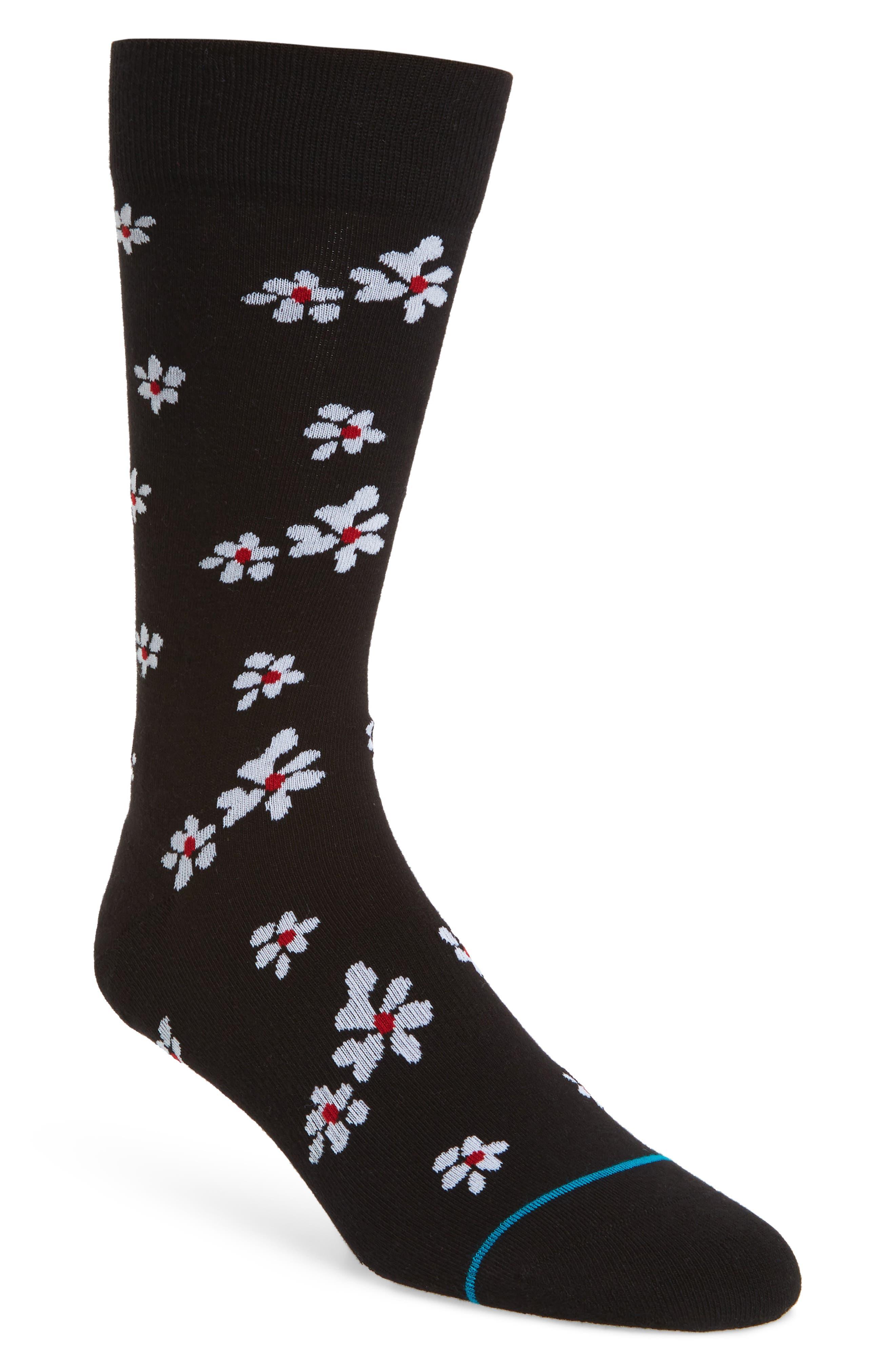 Hendriksen Crew Socks,                             Main thumbnail 1, color,                             Black