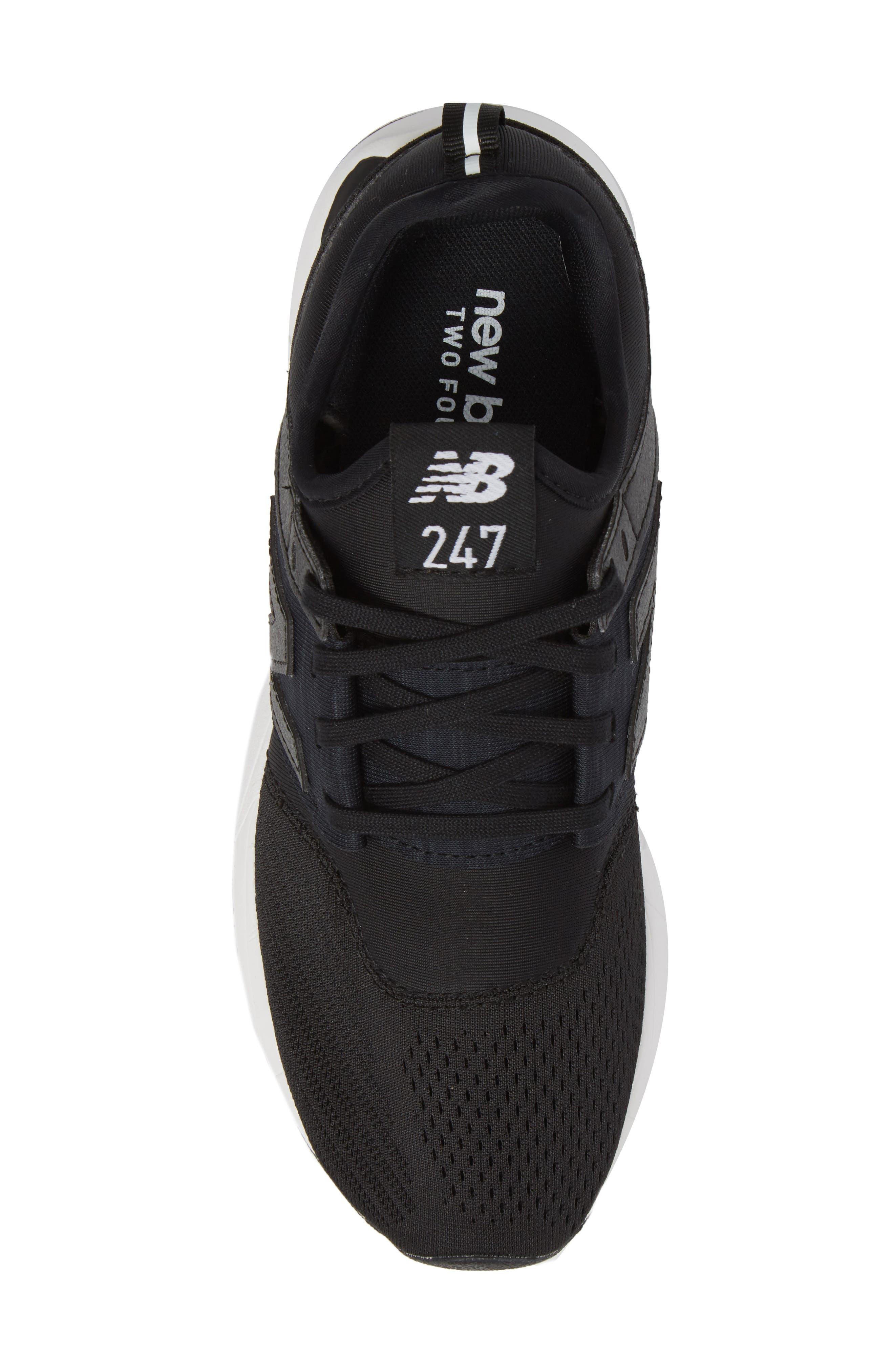 247 Classic Sneaker,                             Alternate thumbnail 5, color,                             Black