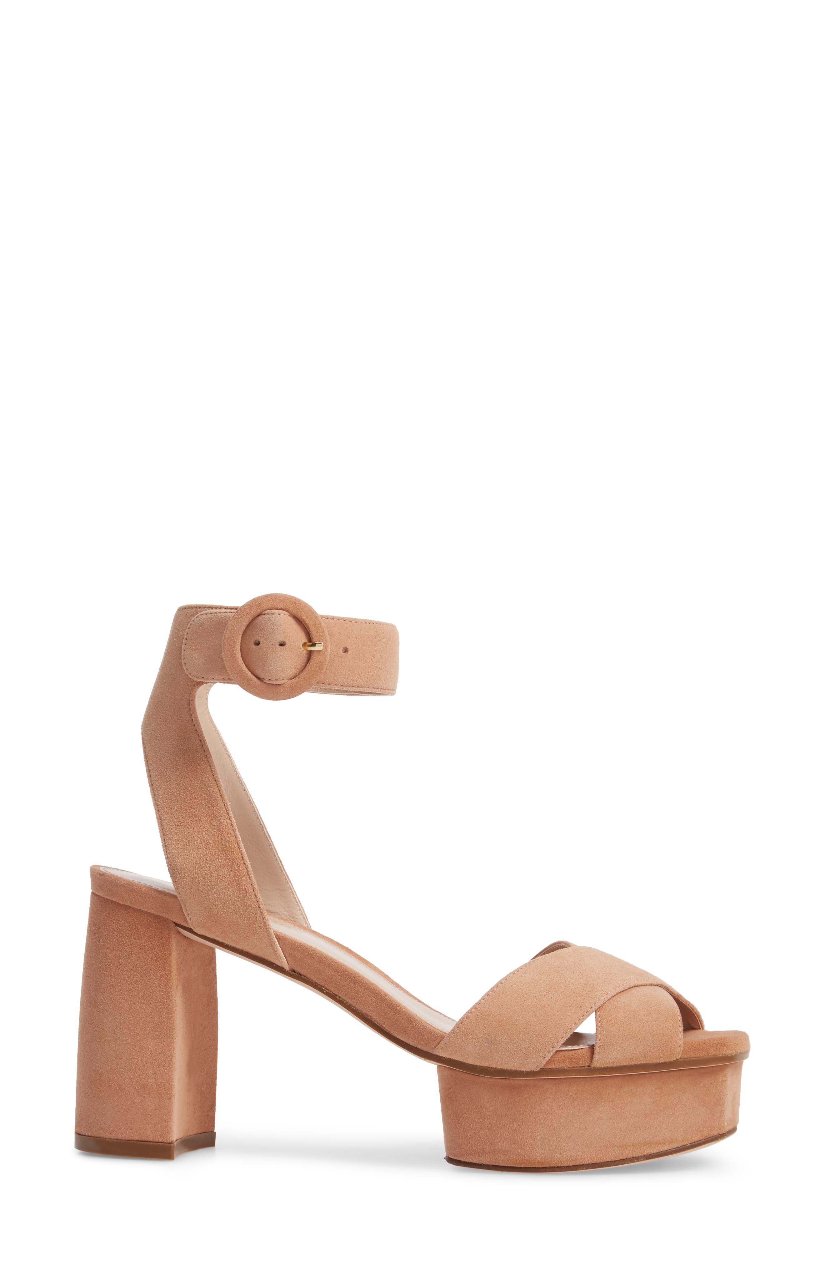 Carmina Ankle Strap Platform Sandal,                             Alternate thumbnail 3, color,                             Naked Seda Suede