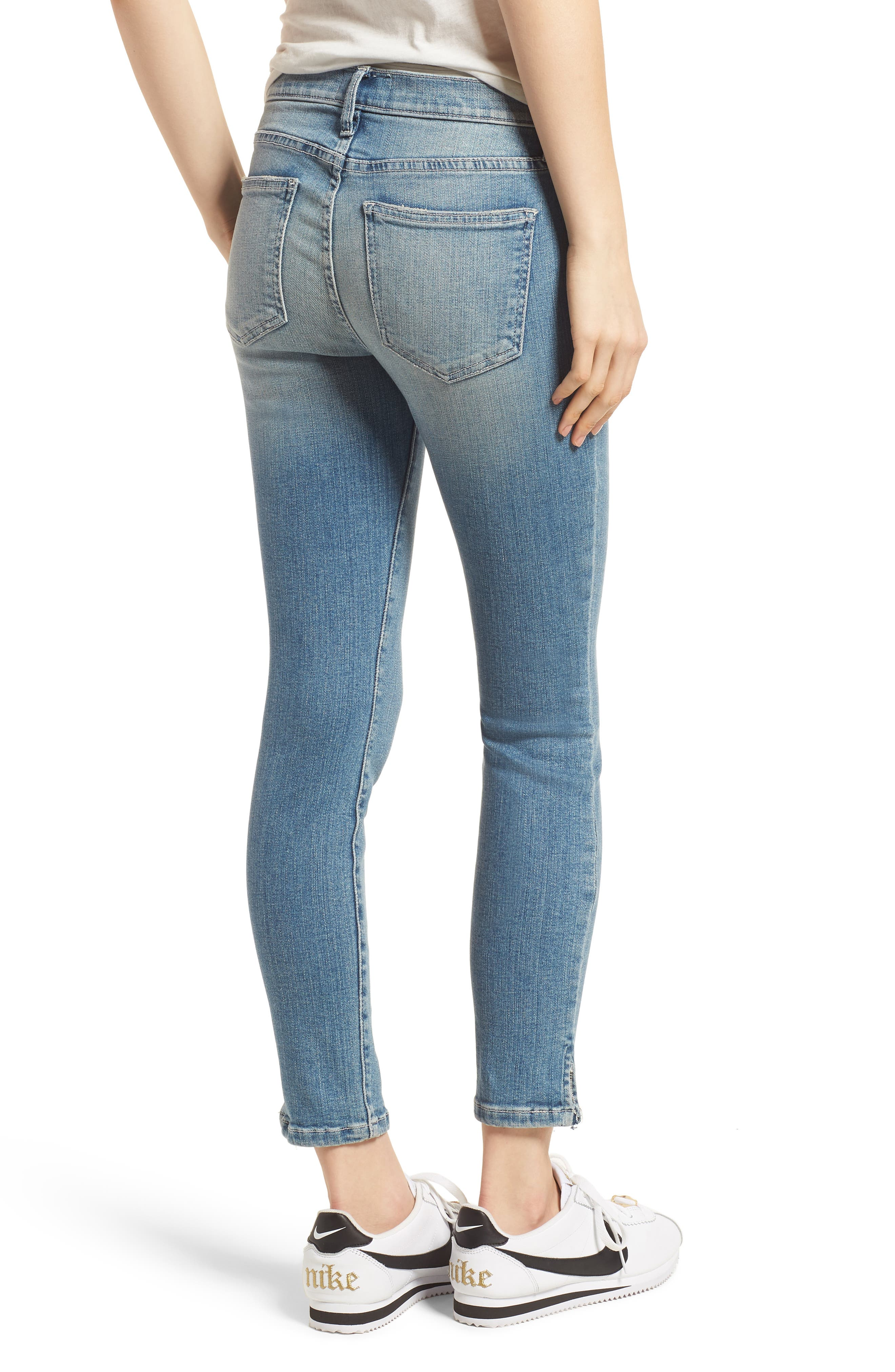The Stiletto Vent Hem Skinny Jeans,                             Alternate thumbnail 2, color,                             Joey Medium