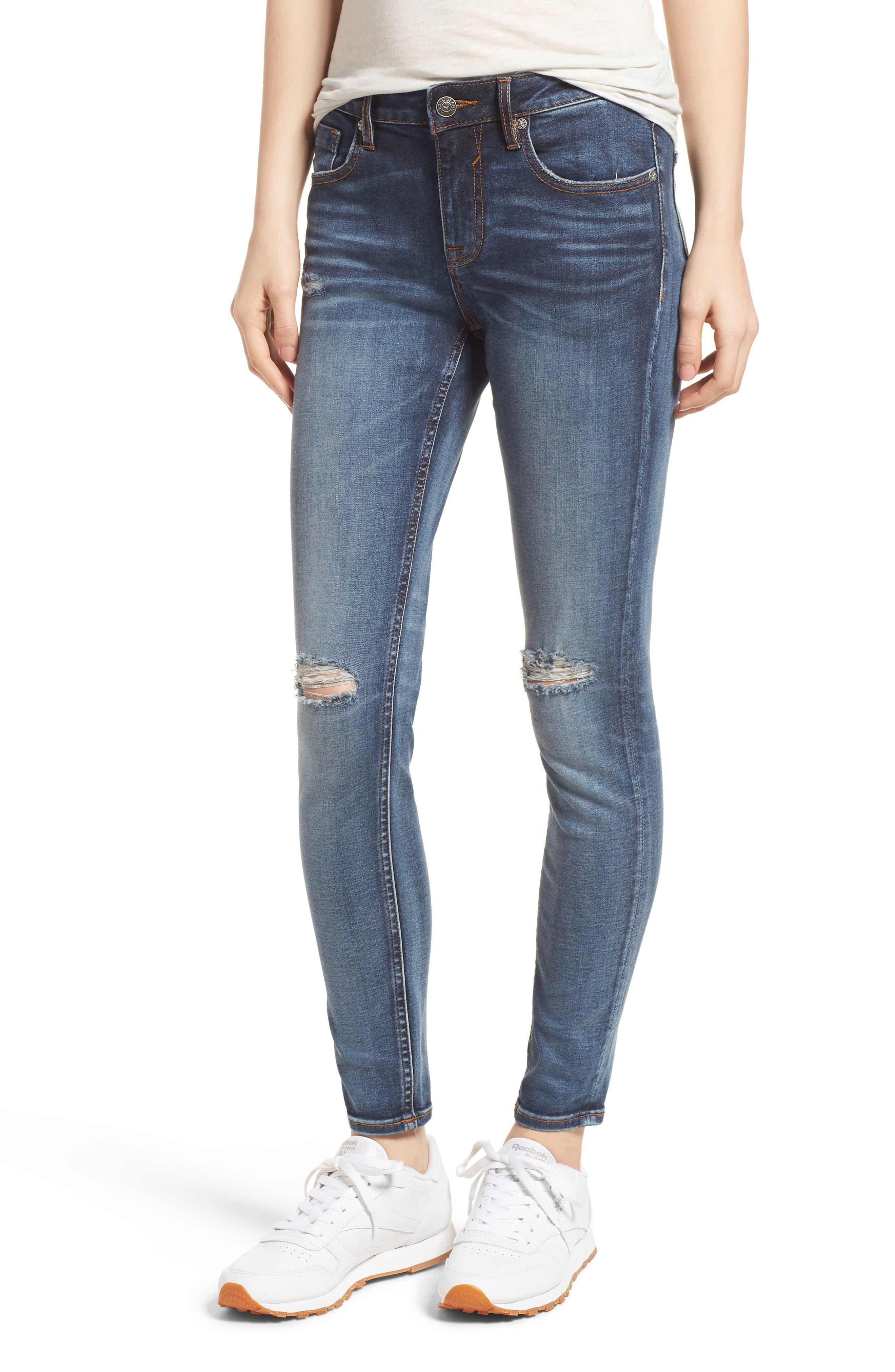 Jagger Ripped Skinny Jeans,                         Main,                         color, Dark Wash
