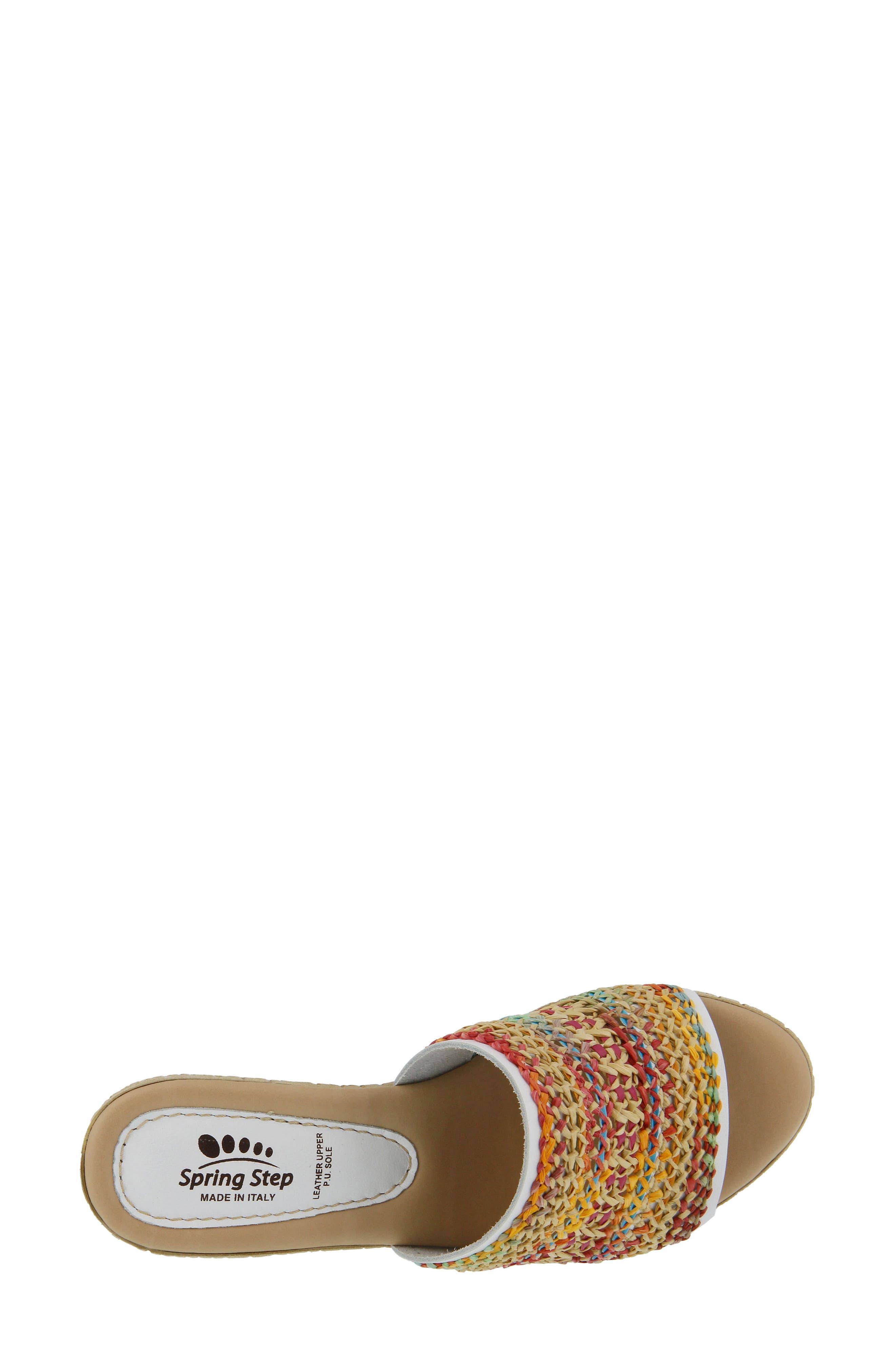 Calci Espadrille Wedge Sandal,                             Alternate thumbnail 4, color,                             White Leather