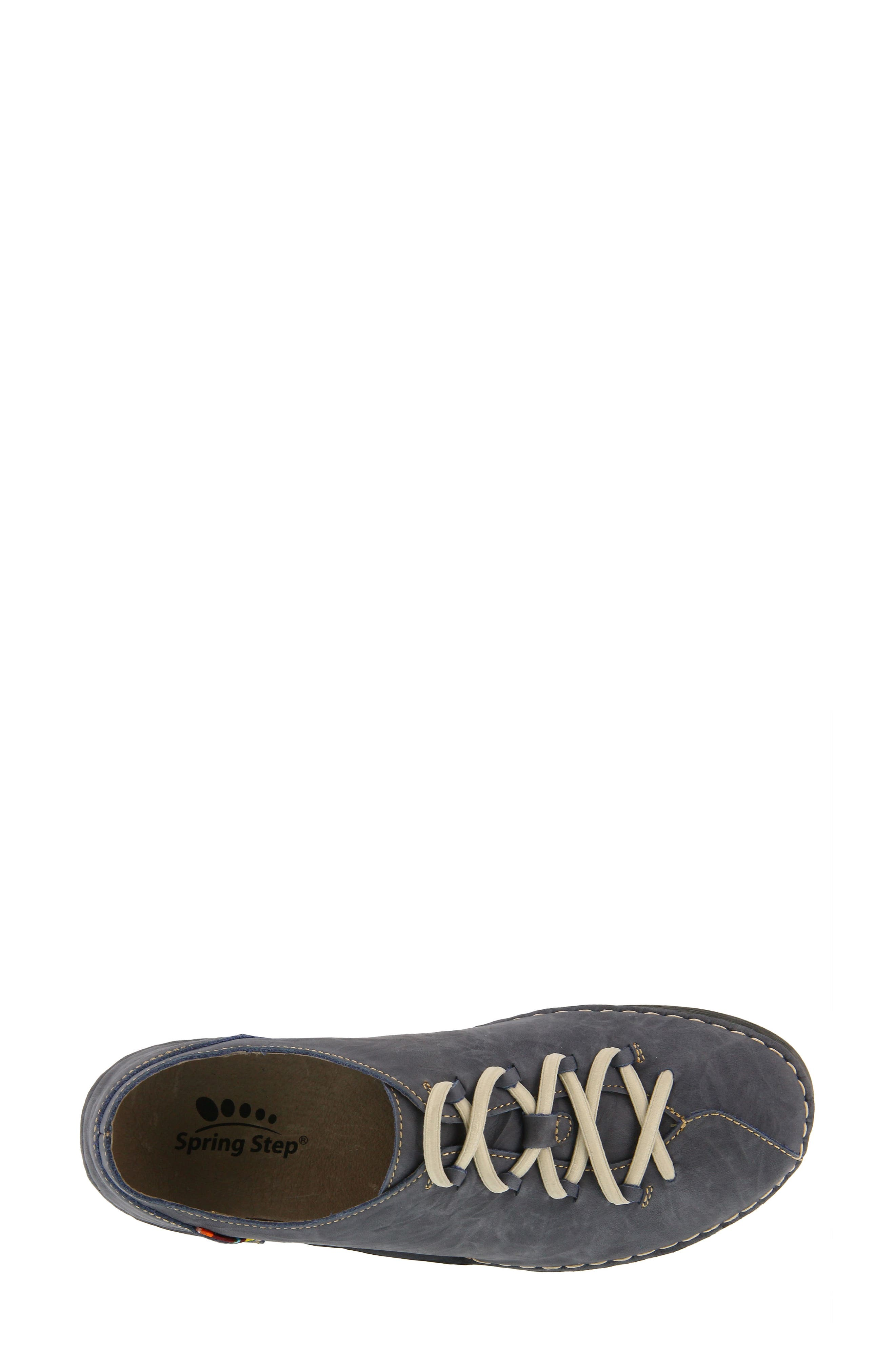 Carhop Sneaker,                             Alternate thumbnail 5, color,                             Blue Leather