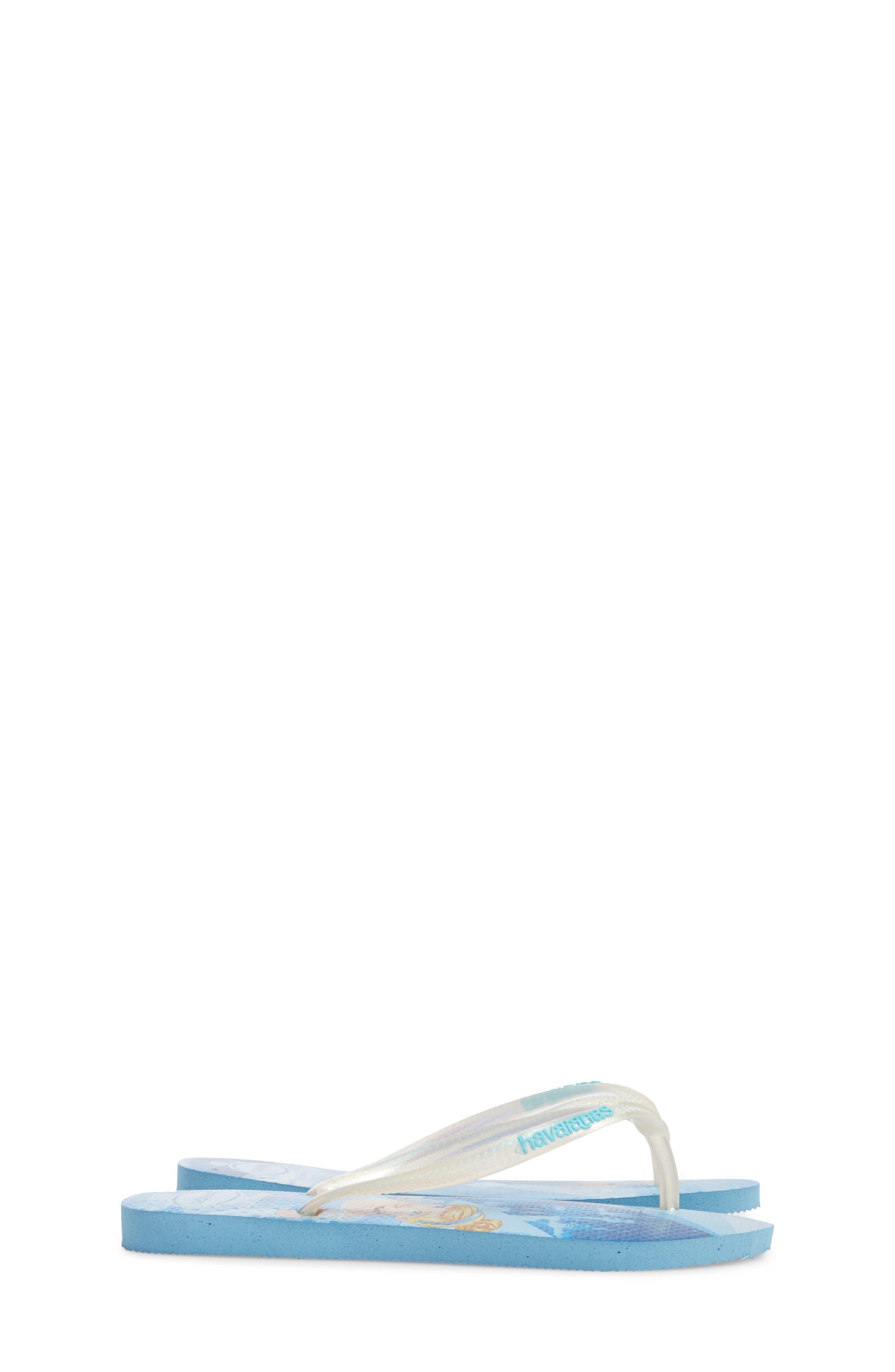 'Disney Princess' Flip Flops,                             Alternate thumbnail 4, color,                             Blue Splash