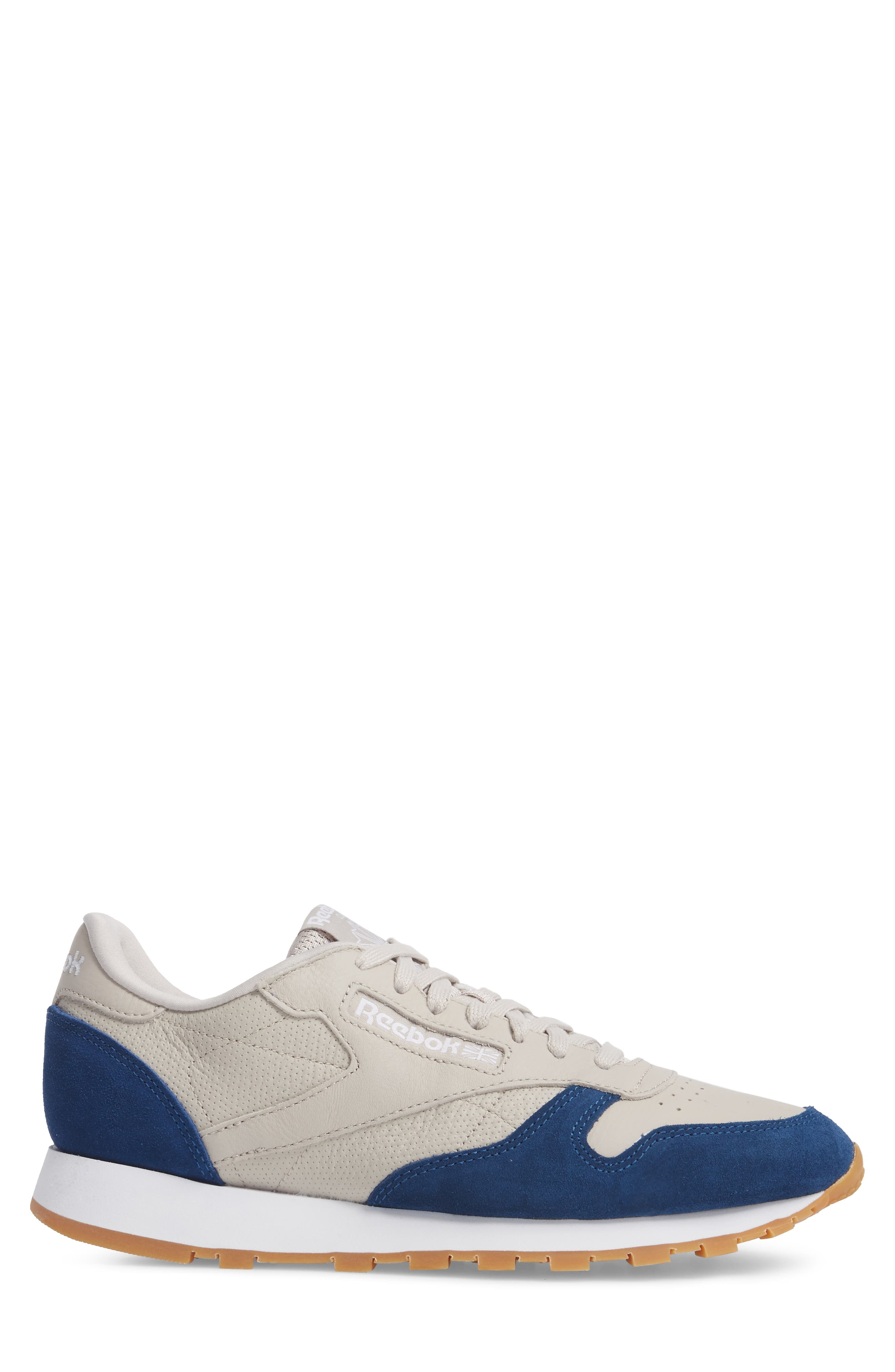 Classic Leather GI Sneaker,                             Alternate thumbnail 3, color,                             Sand Stone/ Washed Blue/ White